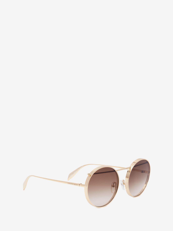 e3eea7dd5bd Alexander McQueen Metal Piercing Frame - Lyst