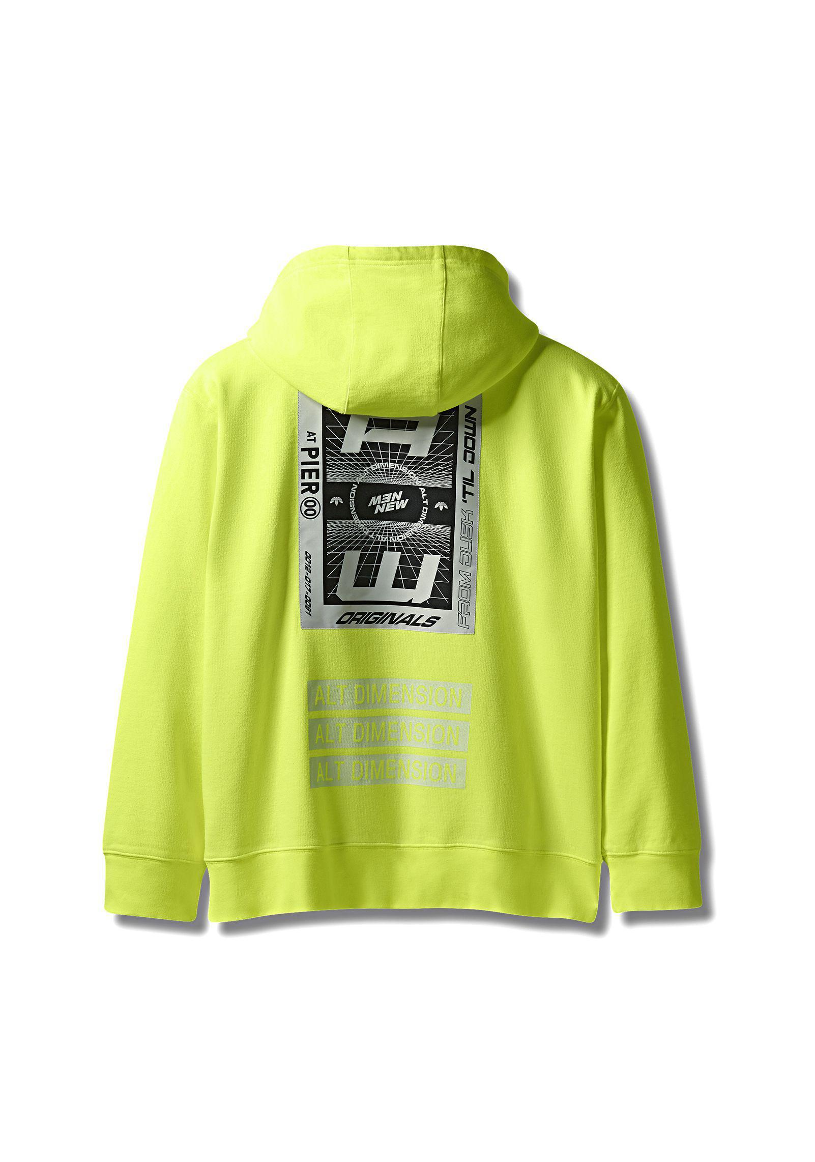 Alexander Wang Adidas Originals By Aw Bleach Hoodie in Yellow - Lyst 1c450cd66969e