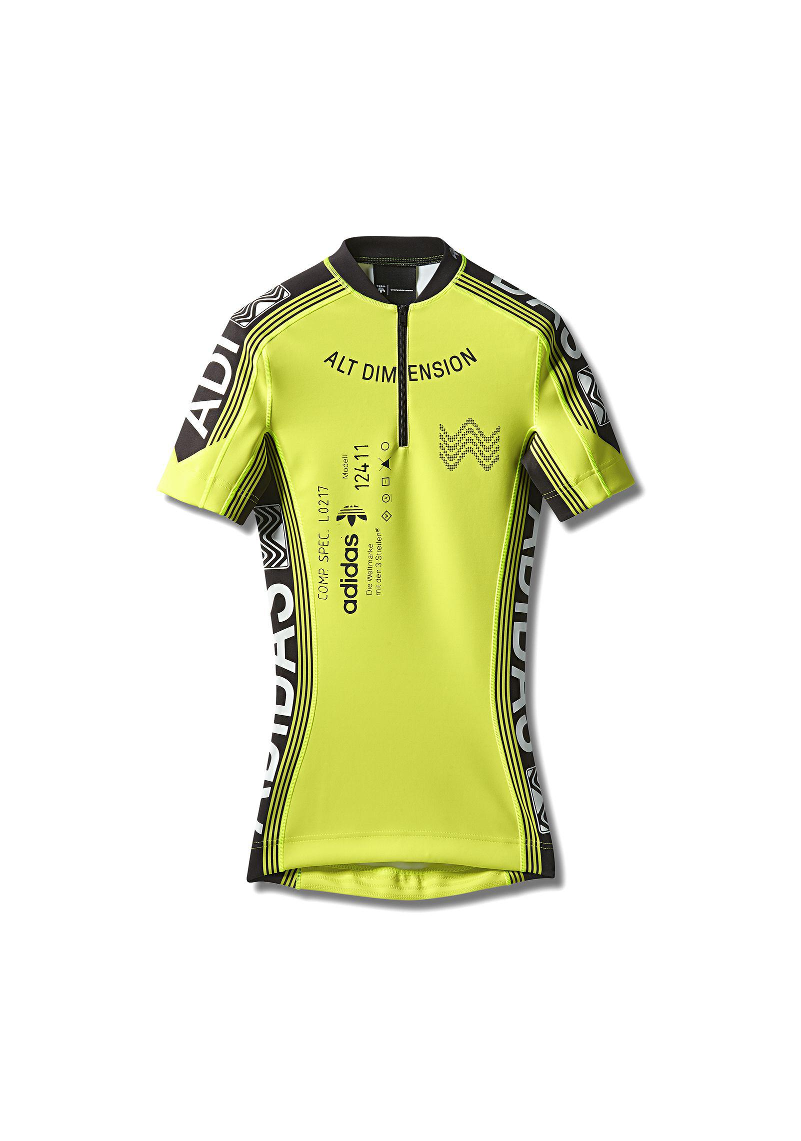 7dfd01e1 Alexander Wang Adidas Orignals By Aw Cycling Jersey in Yellow for ...