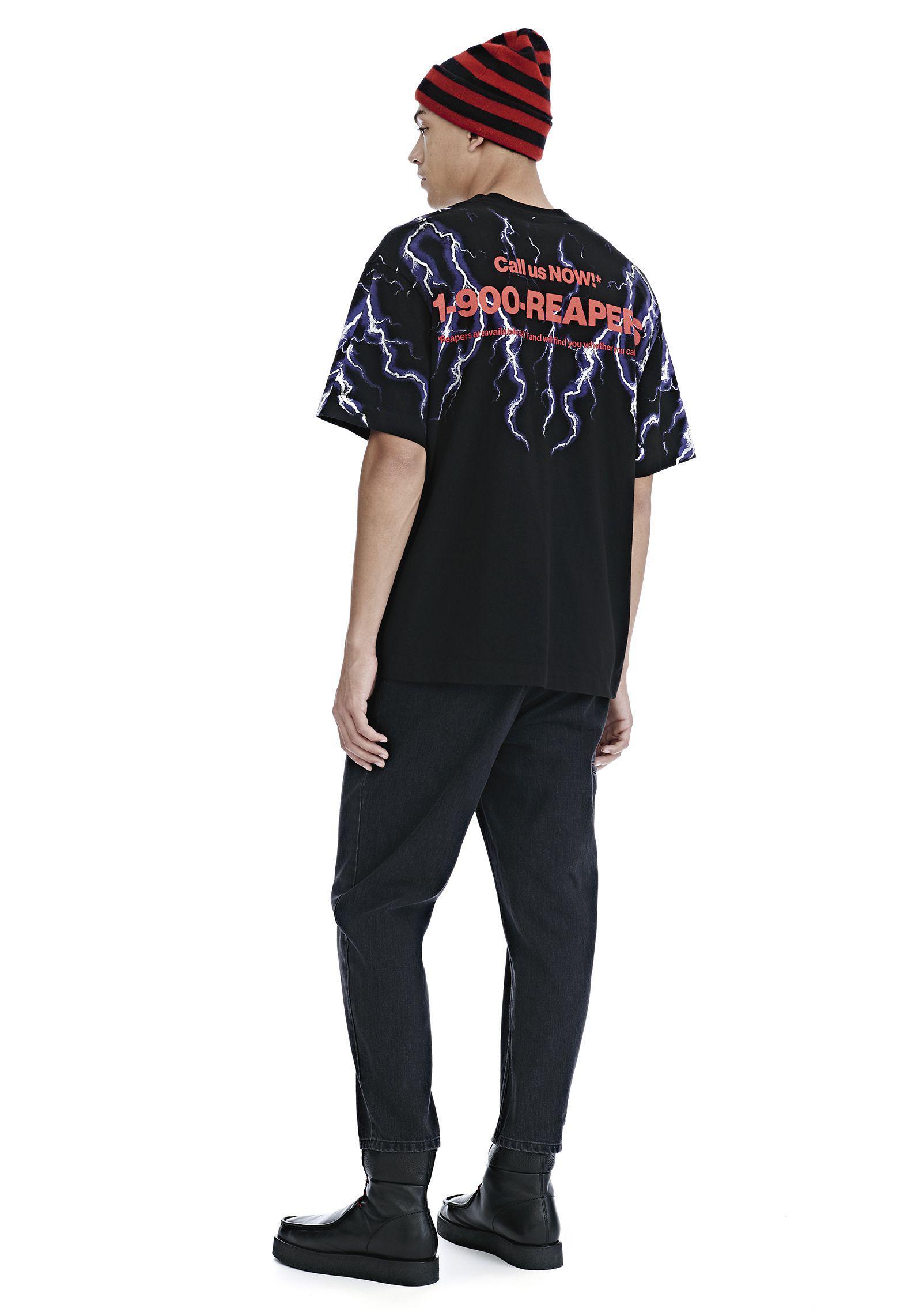 dd5c75ff Alexander Wang Lightning Collage Short Sleeve Tee in Black for Men ...