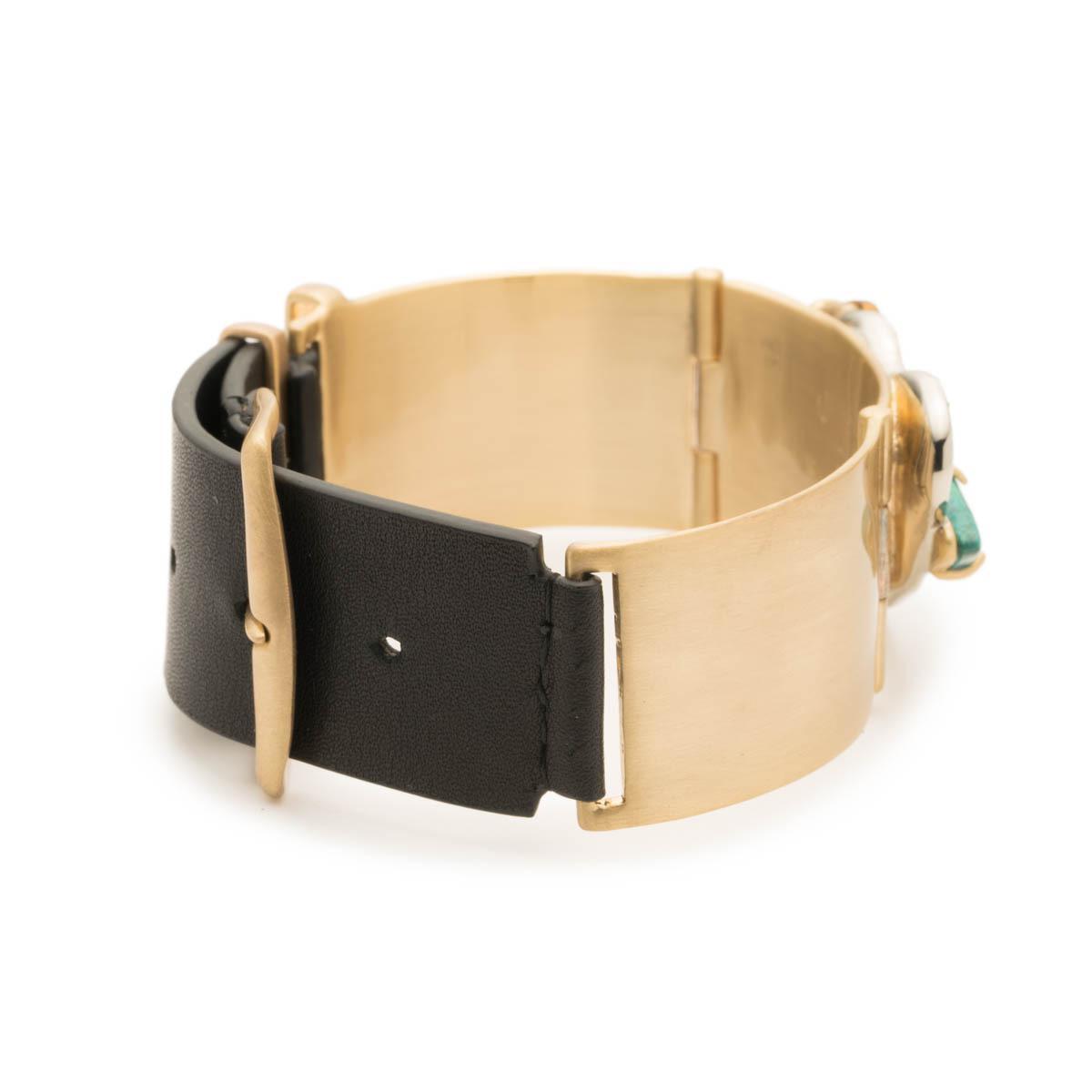 Alexis Bittar Roxbury Cluster Leather Bracelet N16JGCc