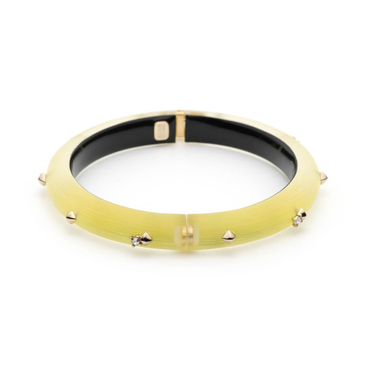 Alexis Bittar Leather Laced Druzy Studded Bangle Bracelet AbJOd
