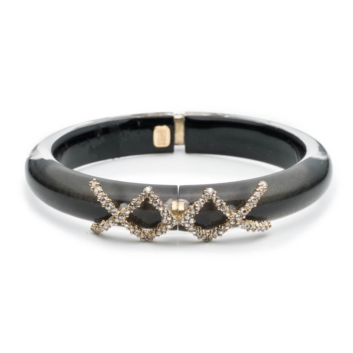 Alexis Bittar Petite Raffia Hinge Bracelet Silver prUCndw3