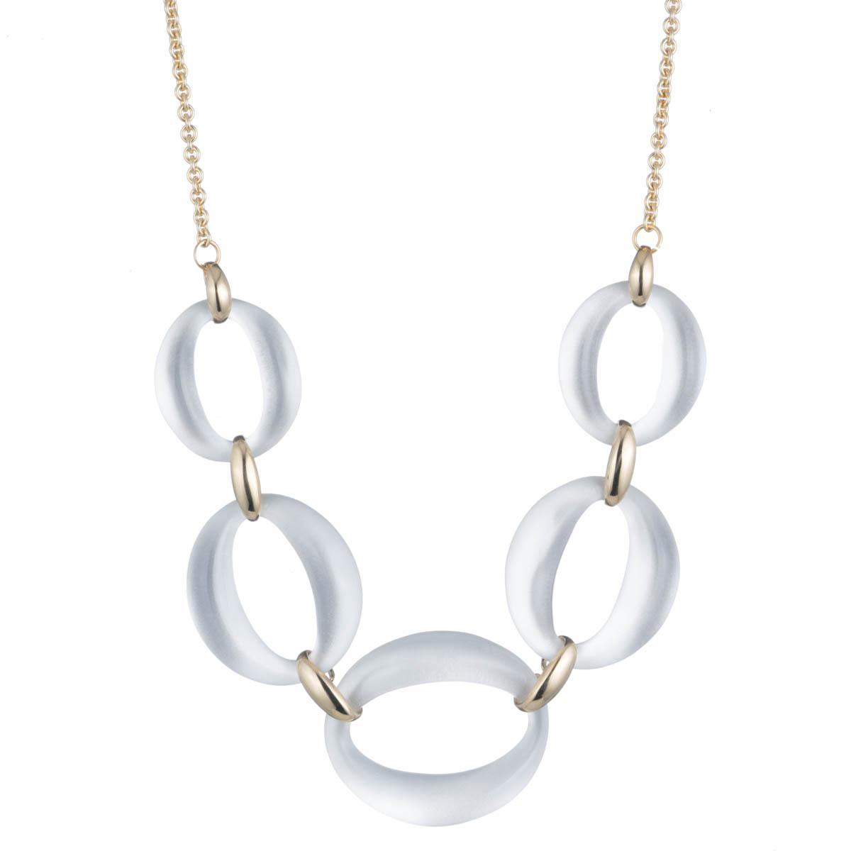Alexis Bittar Large Lucite Link Necklace, 16