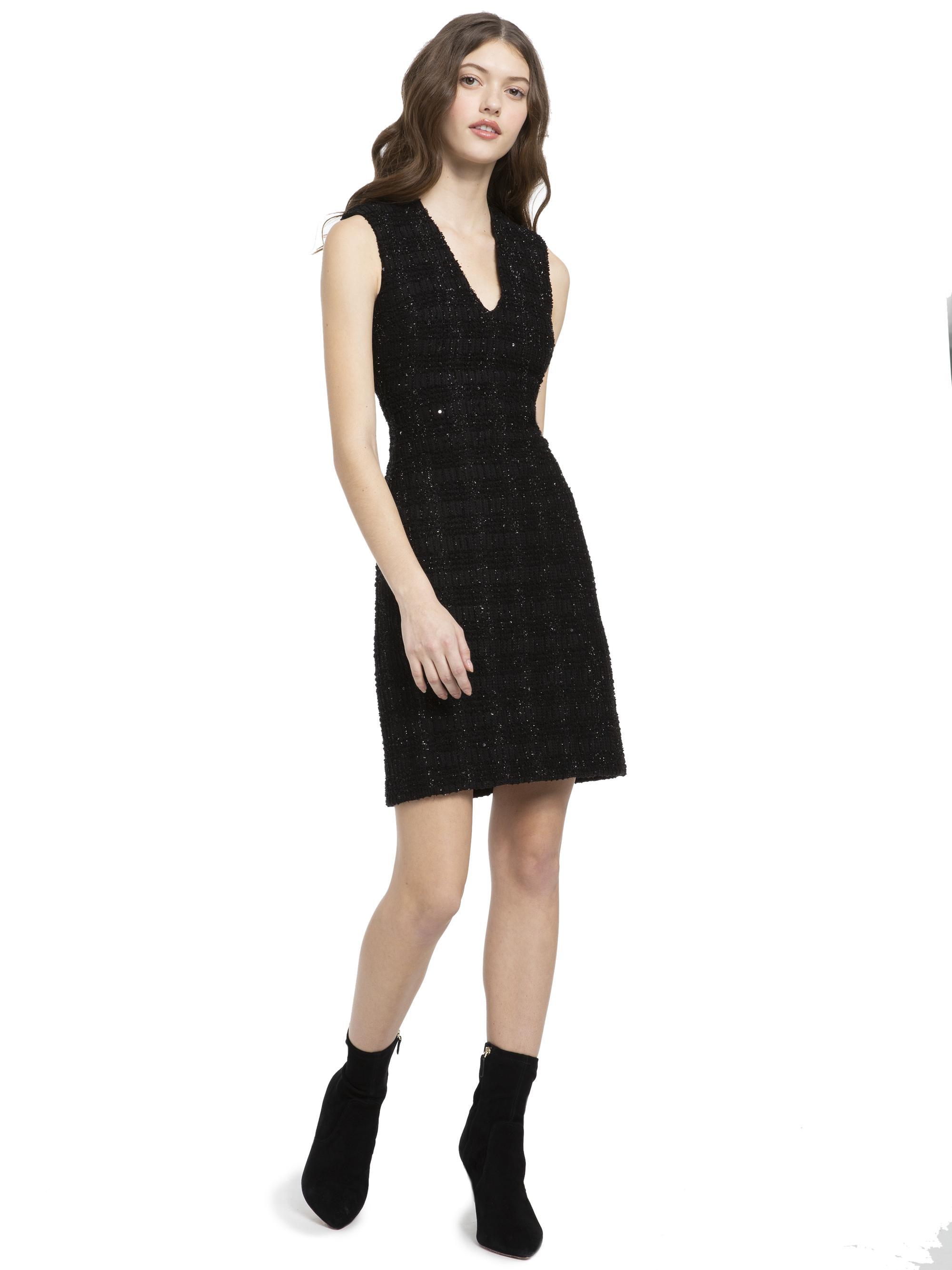 316ee04323 Lyst - Alice + Olivia Adelaide Metallic Mini Dress in Black