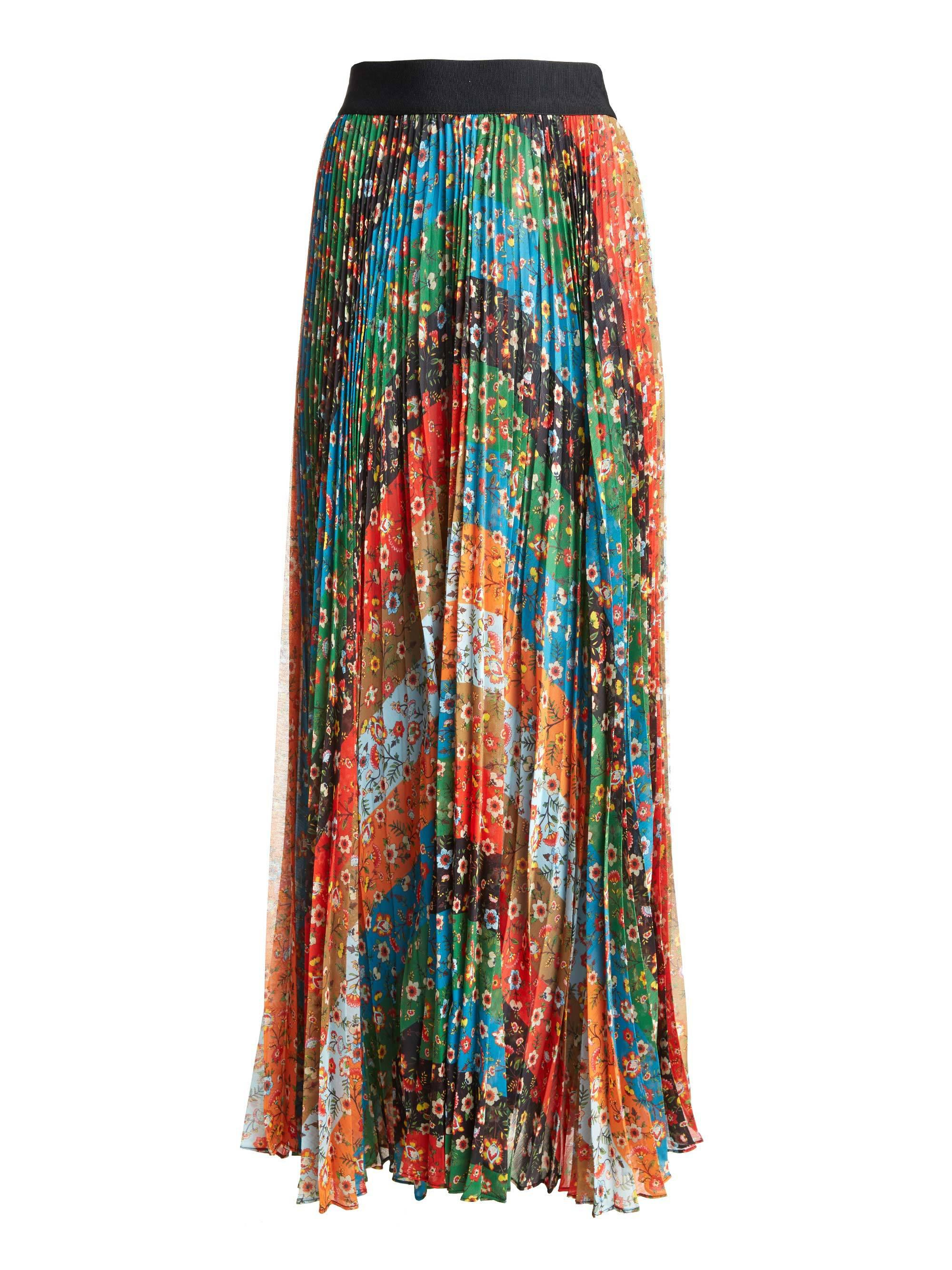 be472a58d0 Alice + Olivia Katz Wide Band Sunburst Pleat Maxi Skirt - Lyst
