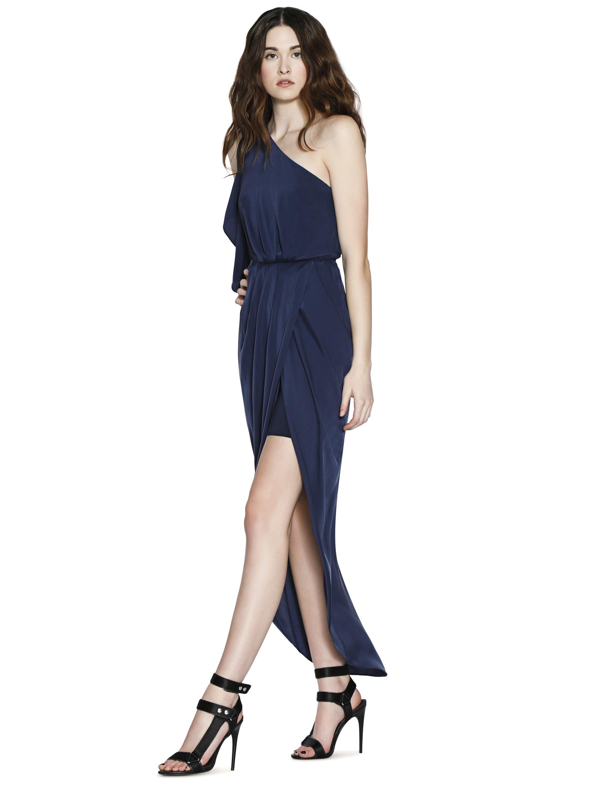 b6ffb4c23c6 Alice + Olivia Oleta One Shoulder Maxi Dress in Blue - Lyst