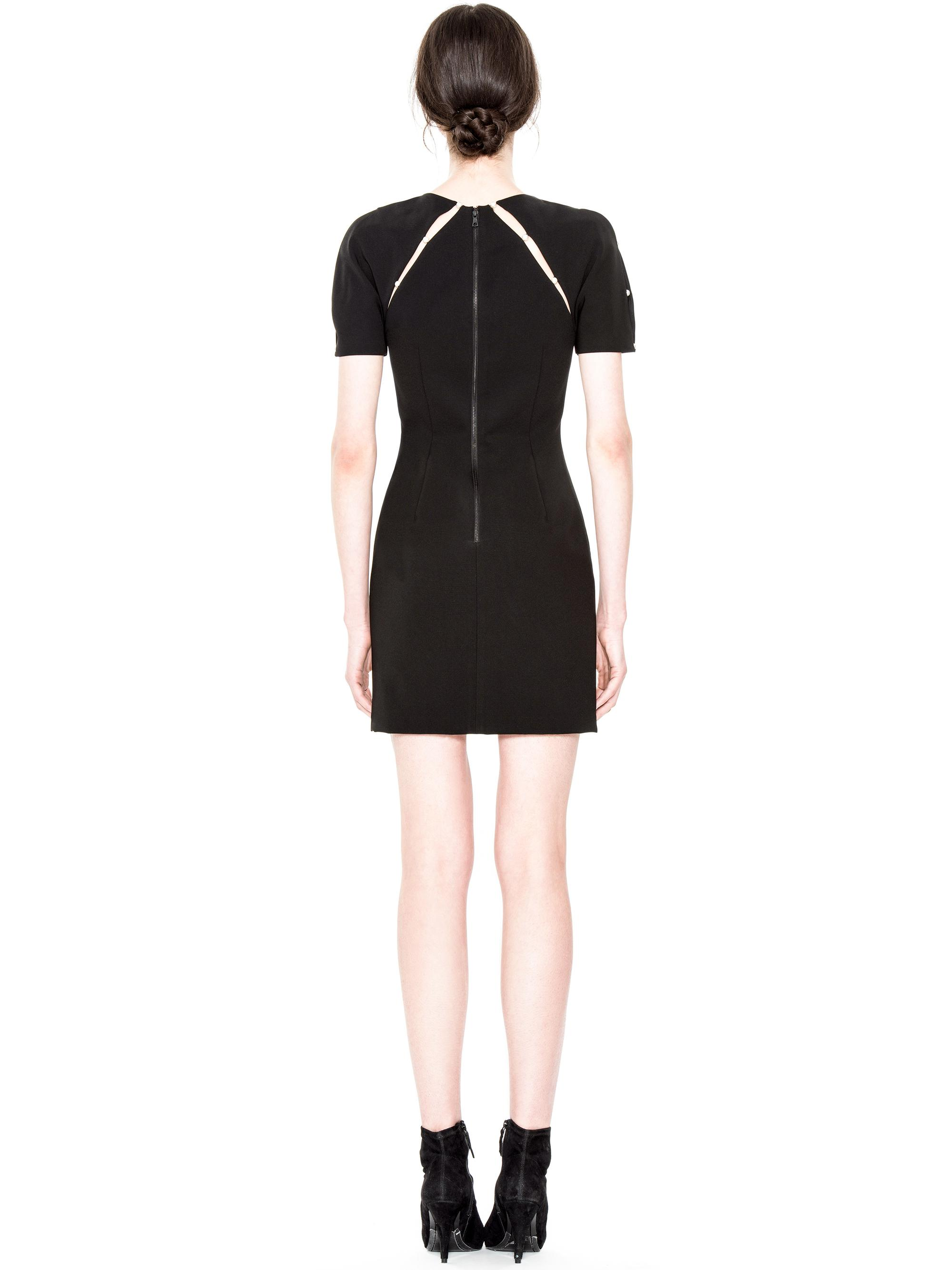 Lyst alice olivia kristiana fitted dress with inserts in black gallery ombrellifo Images