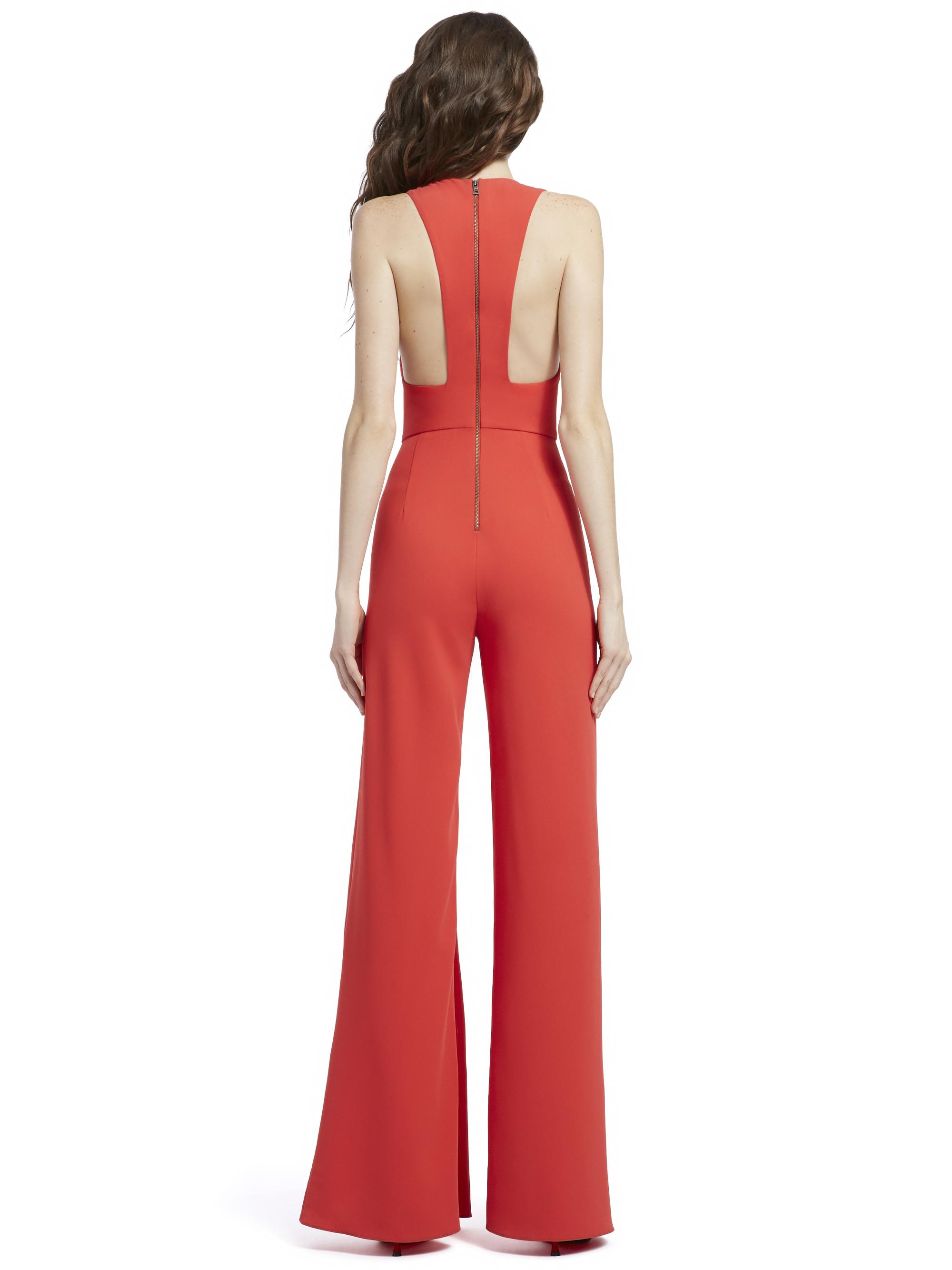 02e6d250aff8 Lyst - Alice + Olivia Maxie Ruffled Jumpsuit in Red