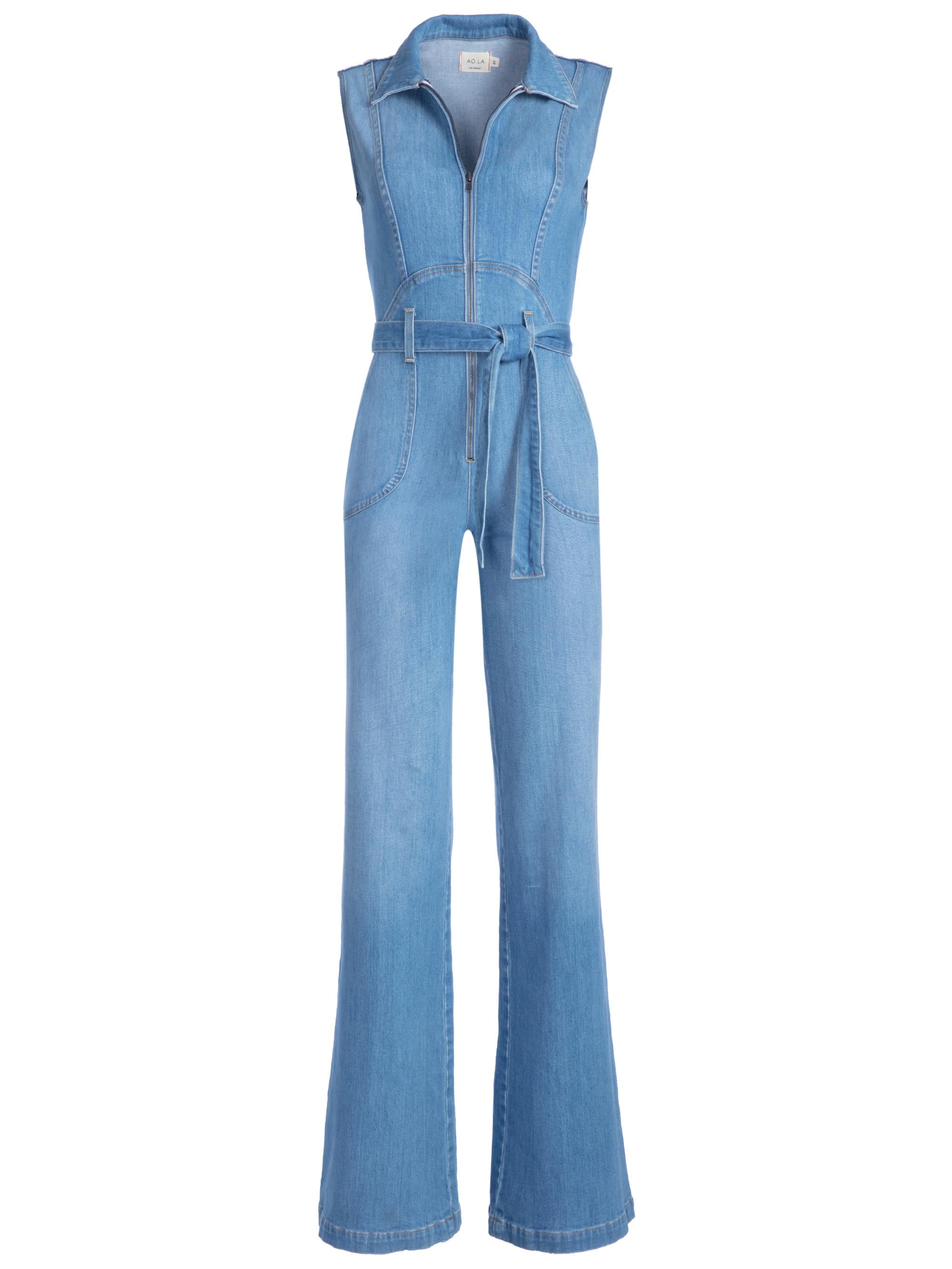 5d83f5fed4 Lyst - Alice + Olivia Gorgeous Sexy 70 s Jumpsuit in Blue