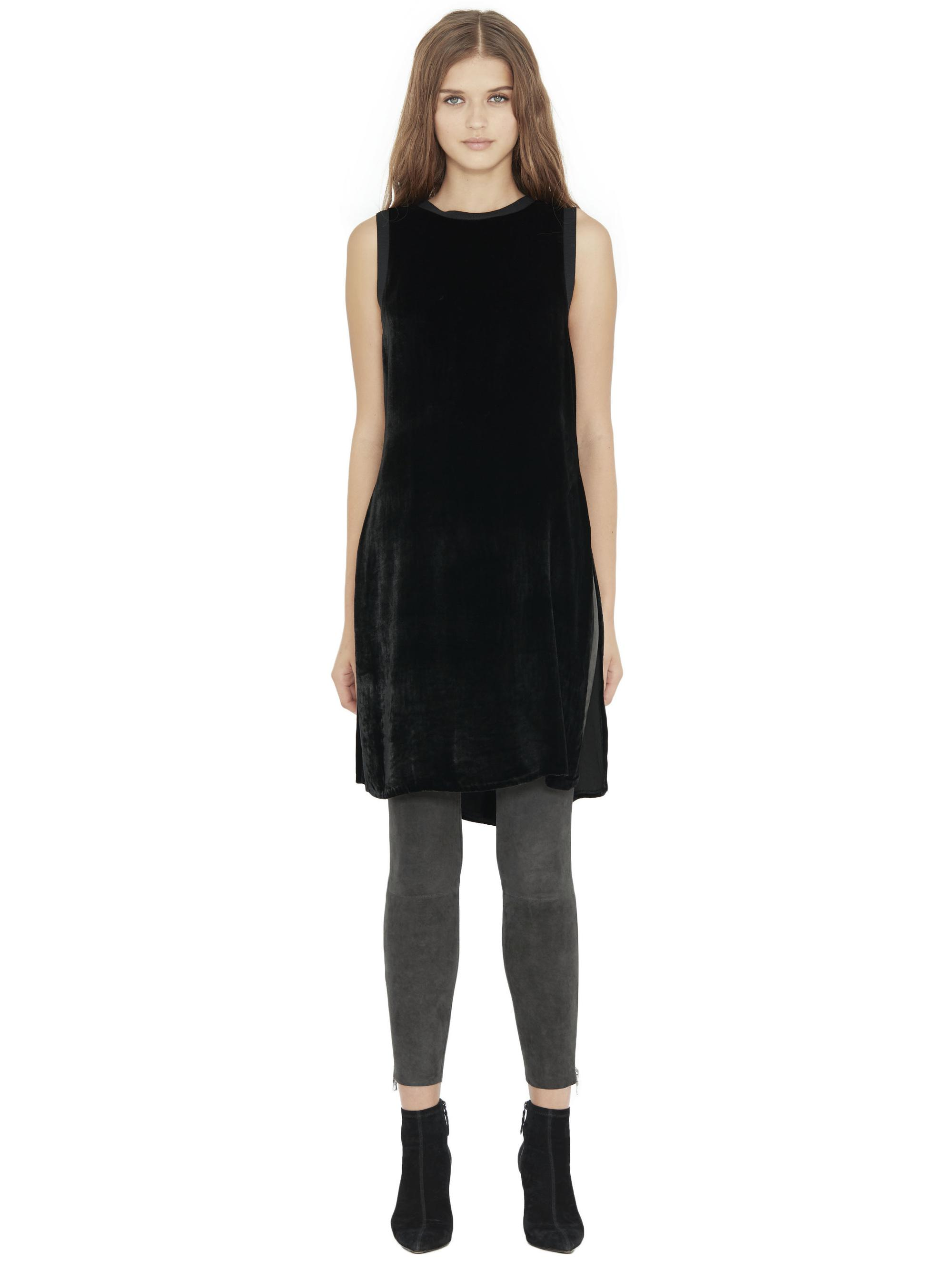 d4a0c2a5769 Alice + Olivia Patsy Long Side Slit Tunic Tank in Black - Lyst