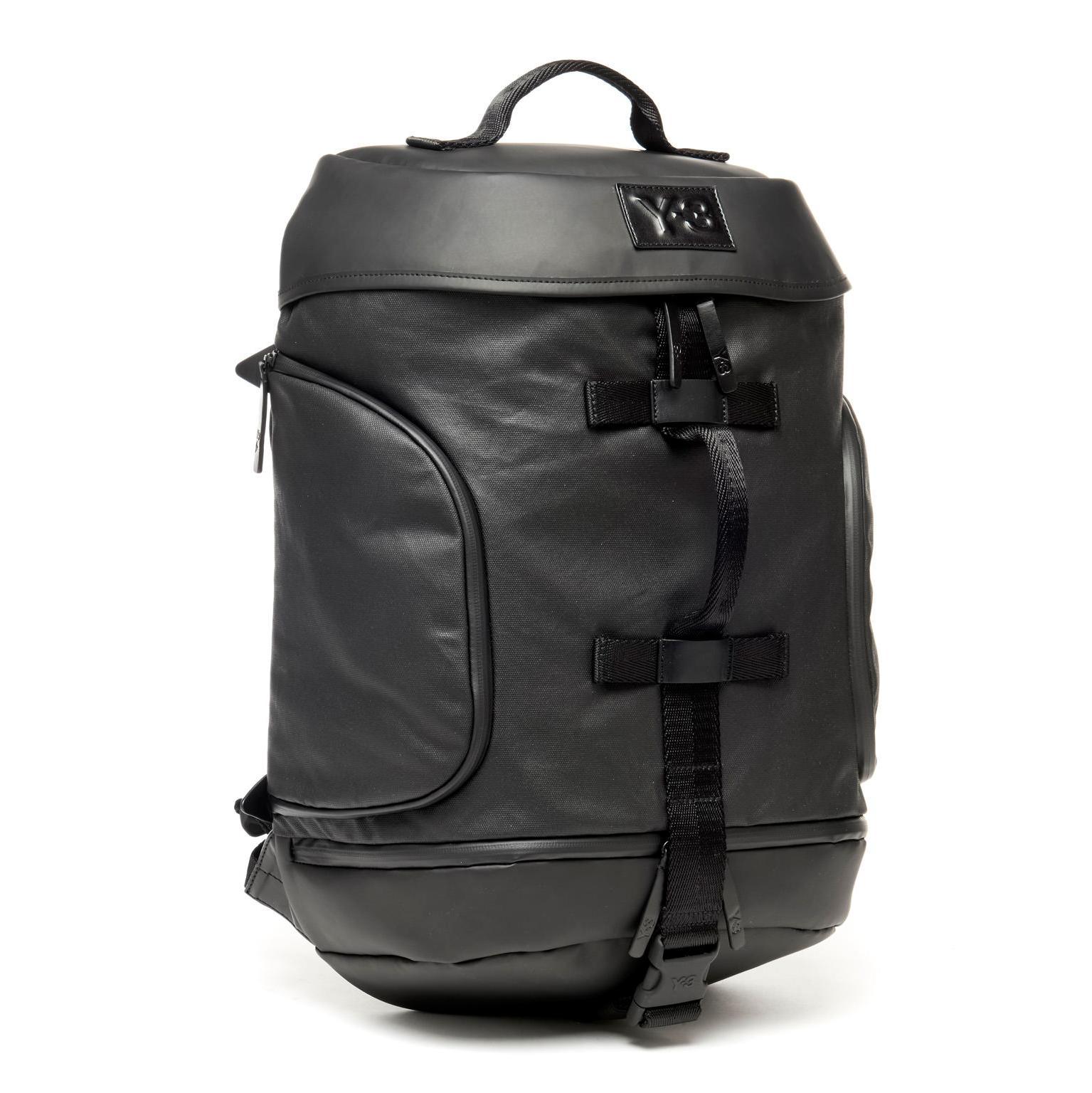 Y-3 - Black Icon Backpack for Men - Lyst. View fullscreen cc2b3fb085140