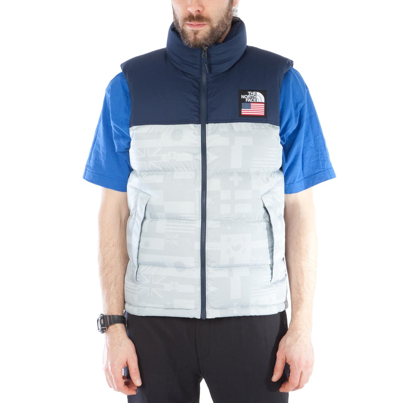 3a984e24a76c The North Face M Ic Nuptse Vest High Rise Grey Flag