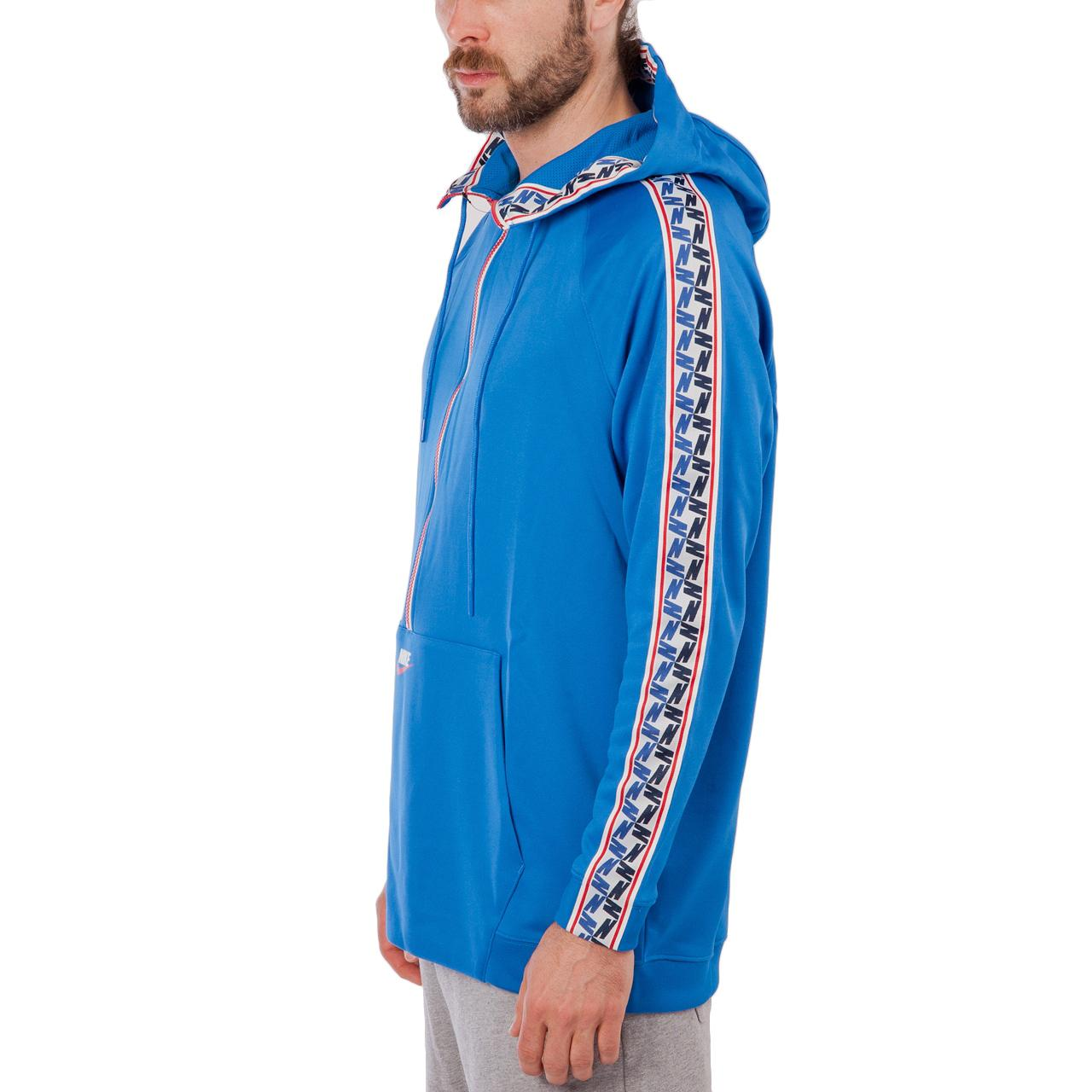 e783ef4c0f05 Lyst - Nike Nike Nsw Taped Half Zip Hooded Poly in Blue for Men