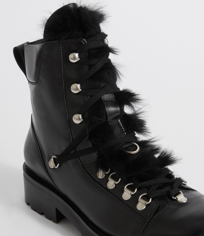 5349f9f81e4306 Lyst - AllSaints Franka Shearling Boot in Black - Save 50%