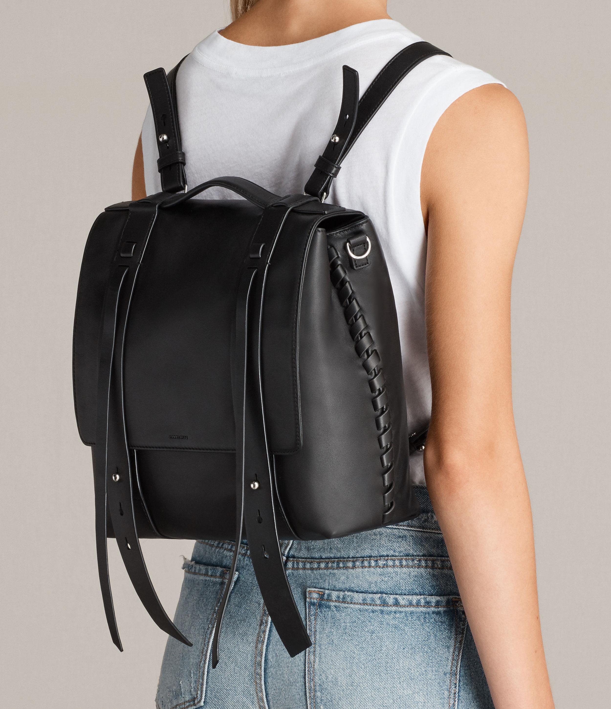 Lyst - Allsaints Fin Shoulder Backpack in Black