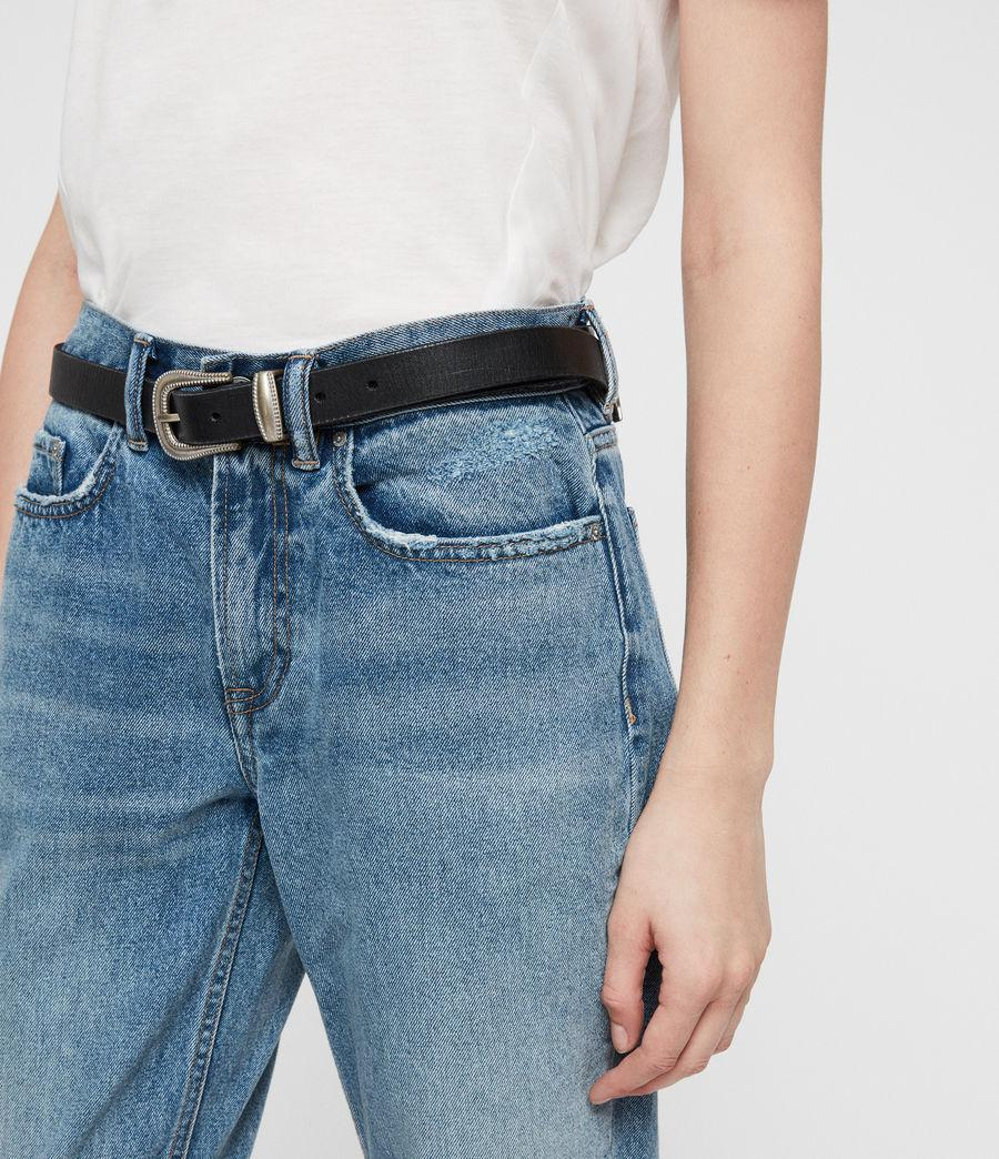 8237930e91 Lyst - Allsaints Boys Frayed Ty Jeans in Blue