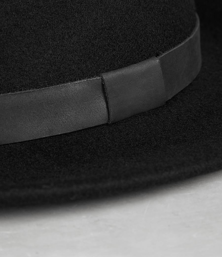 2ddcc89a0b9 AllSaints Bronson Leather Fedora Hat in Black for Men - Lyst