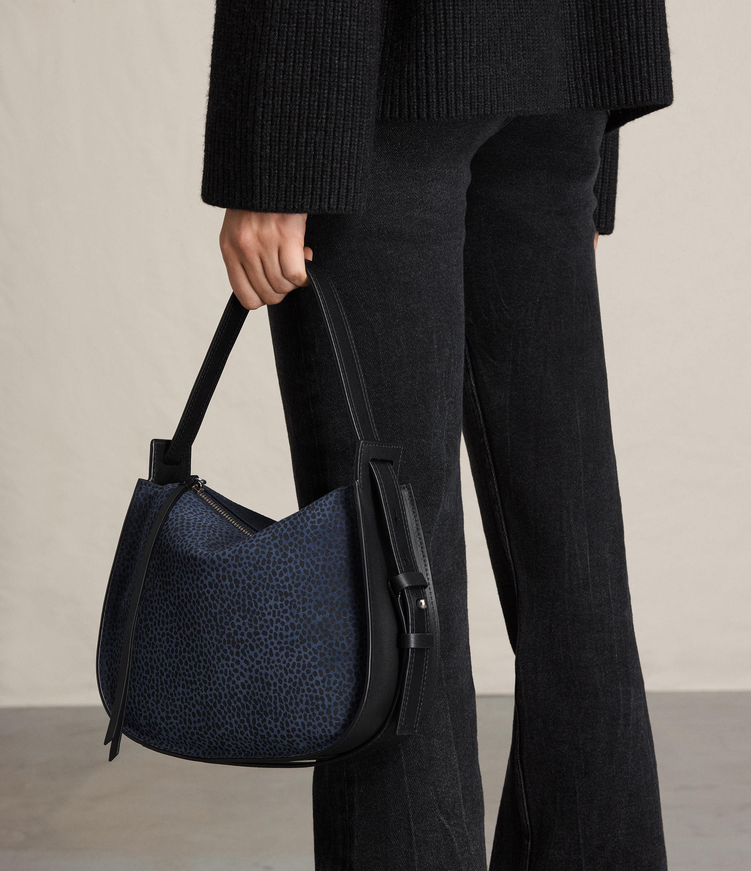 cb39f2ddb3e8f AllSaints Echo Mini Hobo Bag in Blue - Lyst