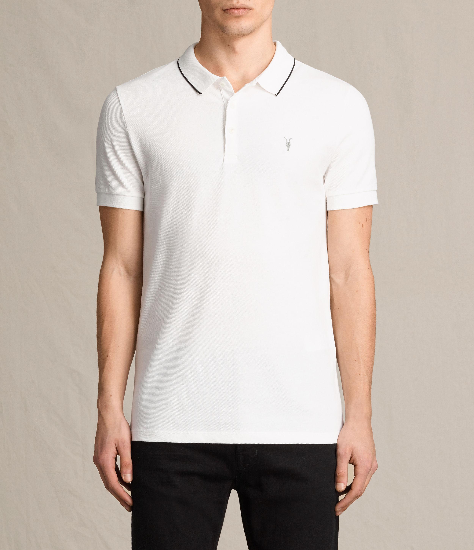 Lyst Allsaints Houston Polo Shirt In White For Men