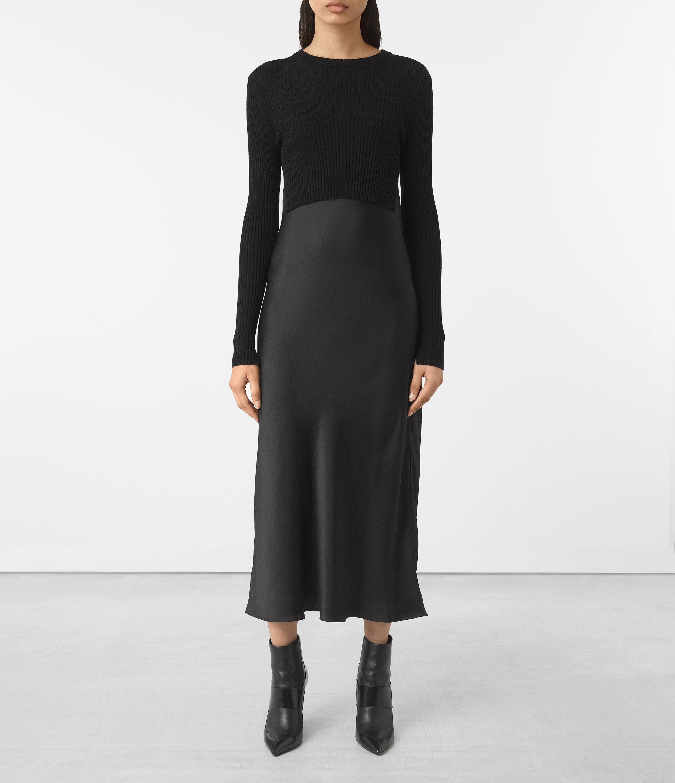 ef8466590e AllSaints Kowlo Dress in Black - Lyst