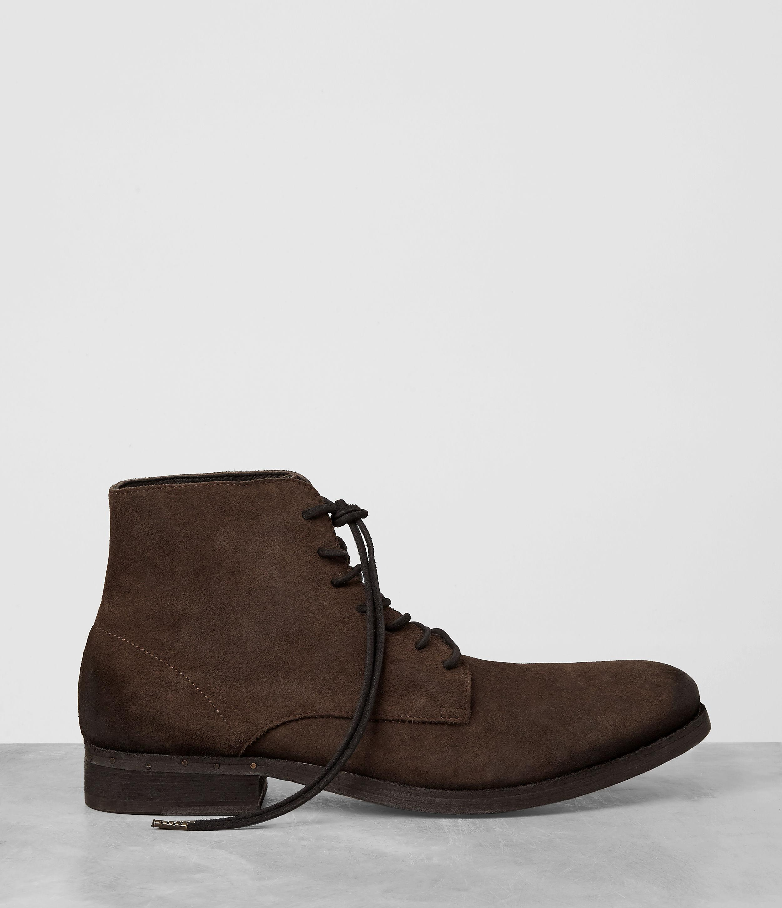 allsaints pin boot in brown for lyst