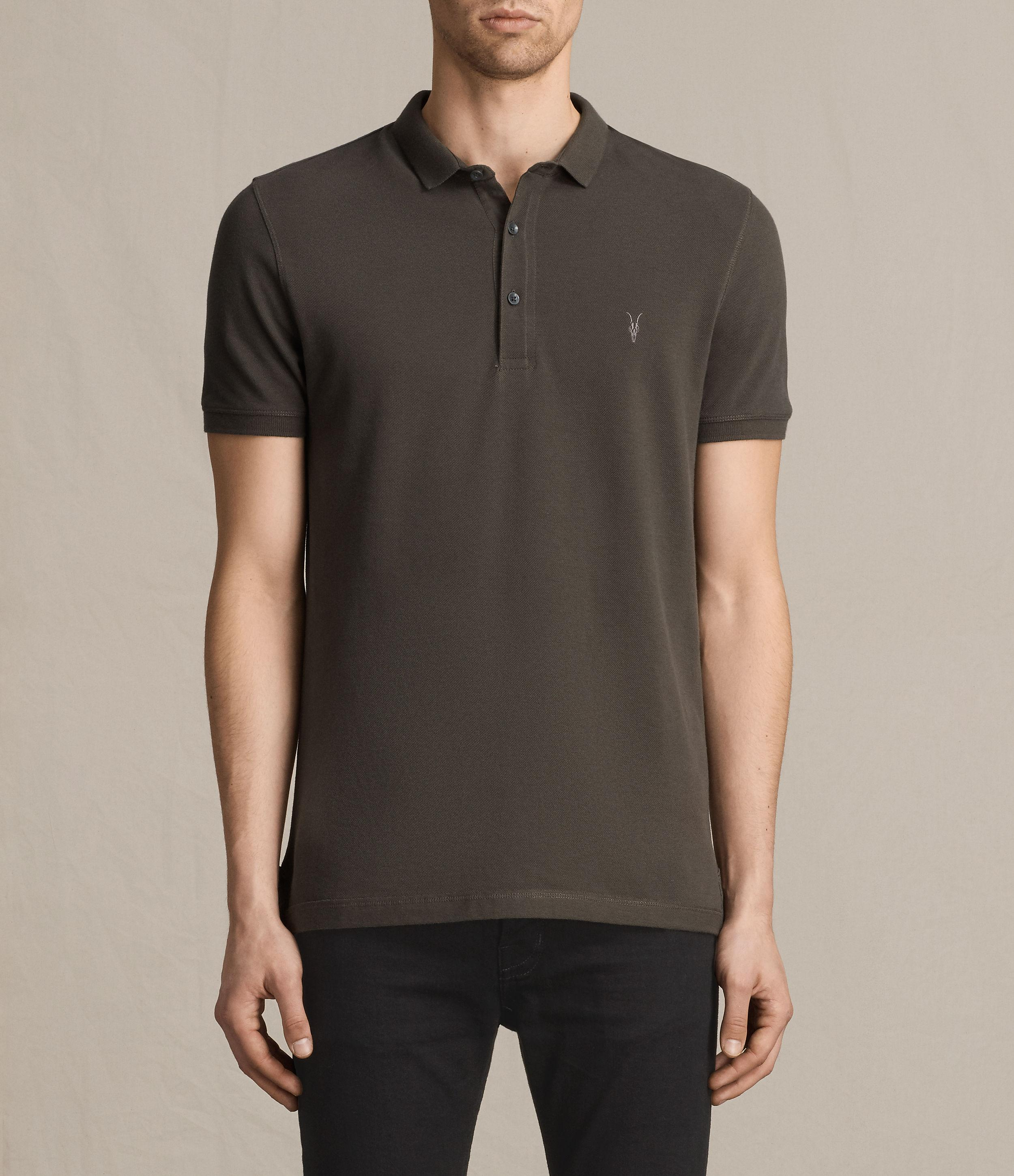 Allsaints reform polo shirt in green for men lyst for All saints polo shirt