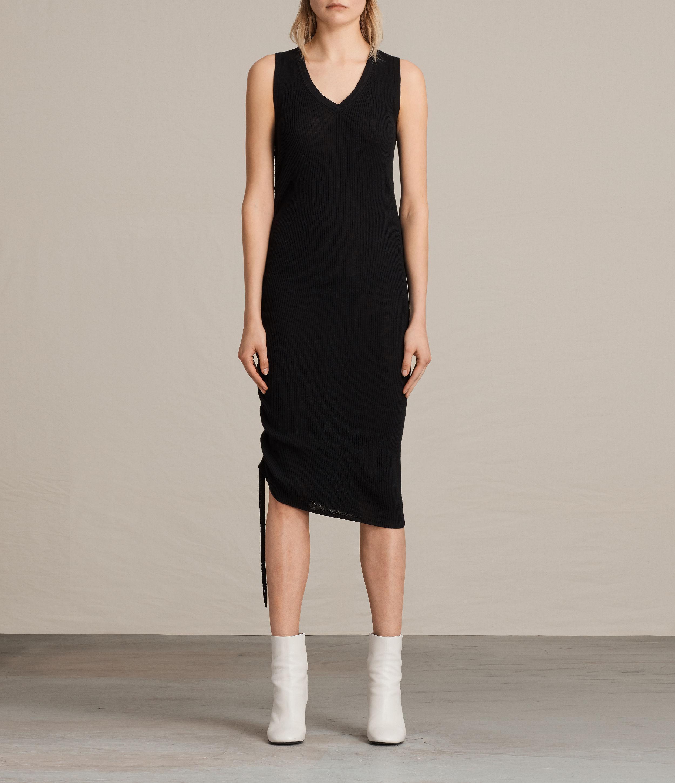 7f67119a479b AllSaints Rosen Dress in Black - Lyst