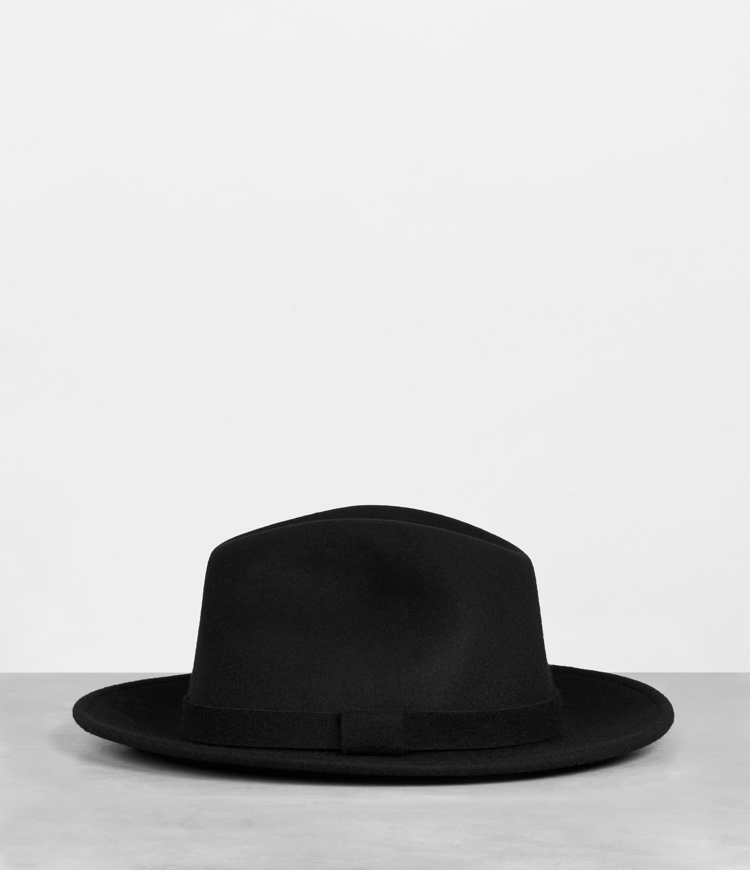 7480f776f8906 Lyst - AllSaints Bronson Fedora Hat in Black for Men