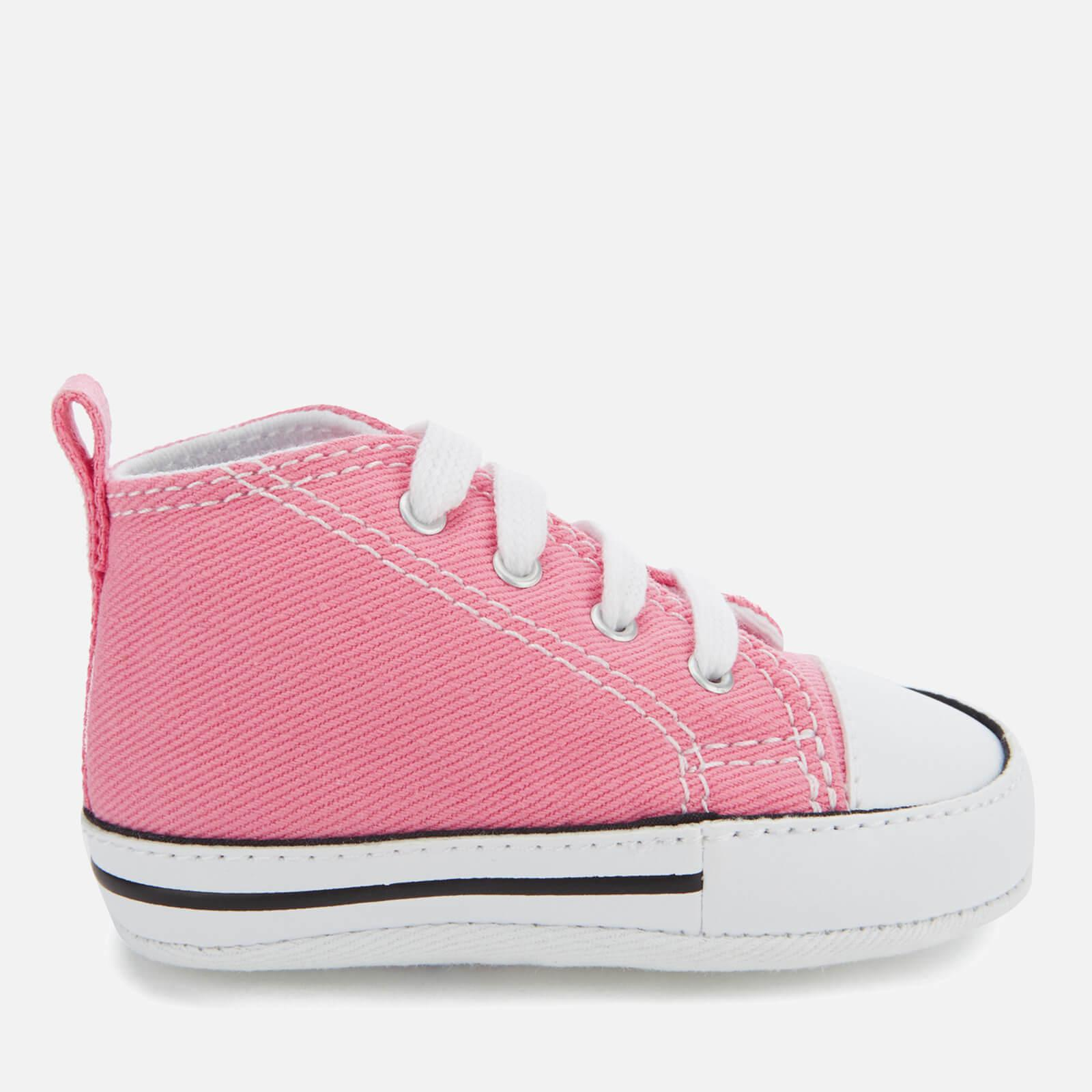 1c12c9f3790ed9 Lyst - Converse Babies Chuck Taylor First Star Hi-top Trainers in Pink