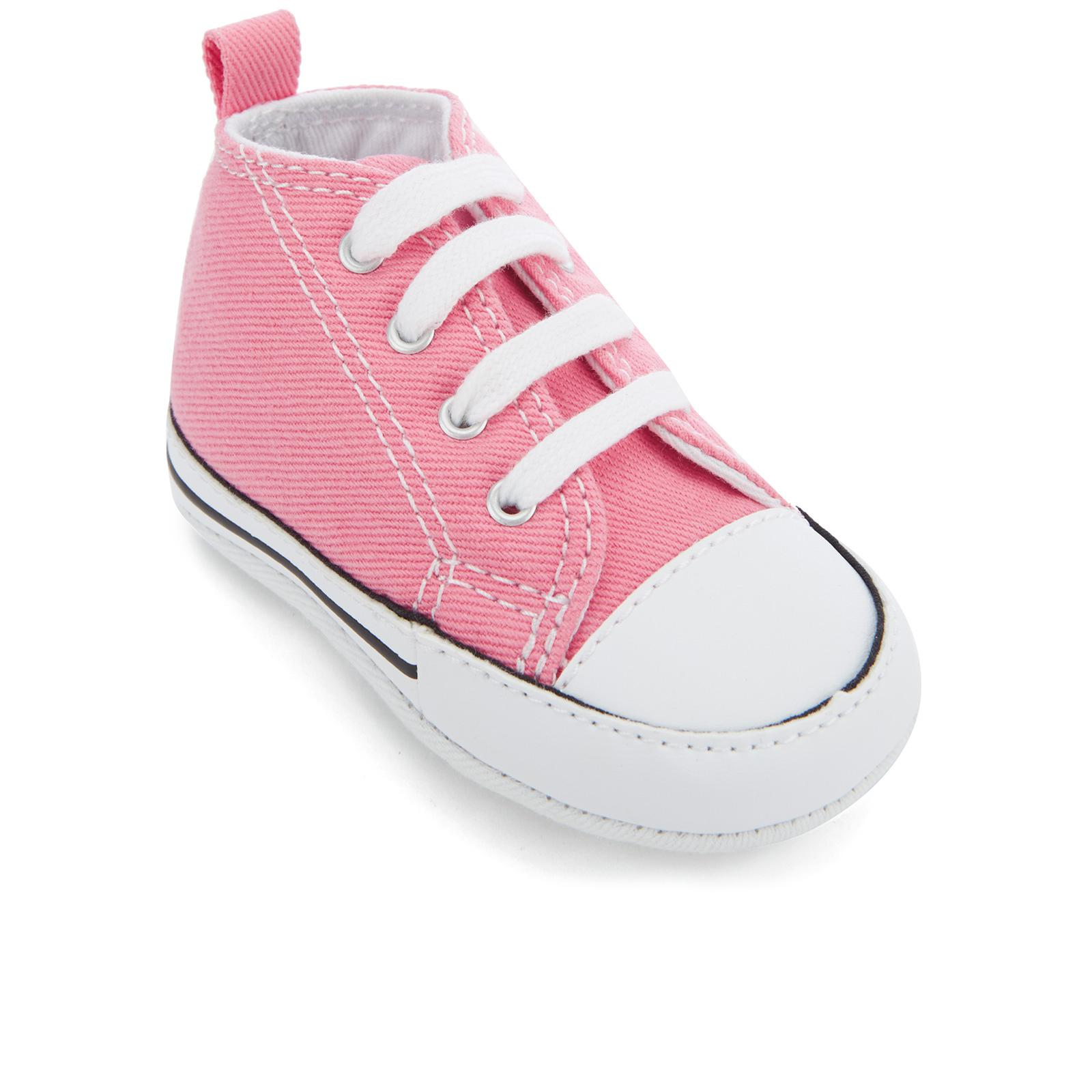dde8dd53ee6a Lyst - Converse Babies Chuck Taylor First Star Hi-top Trainers in Pink