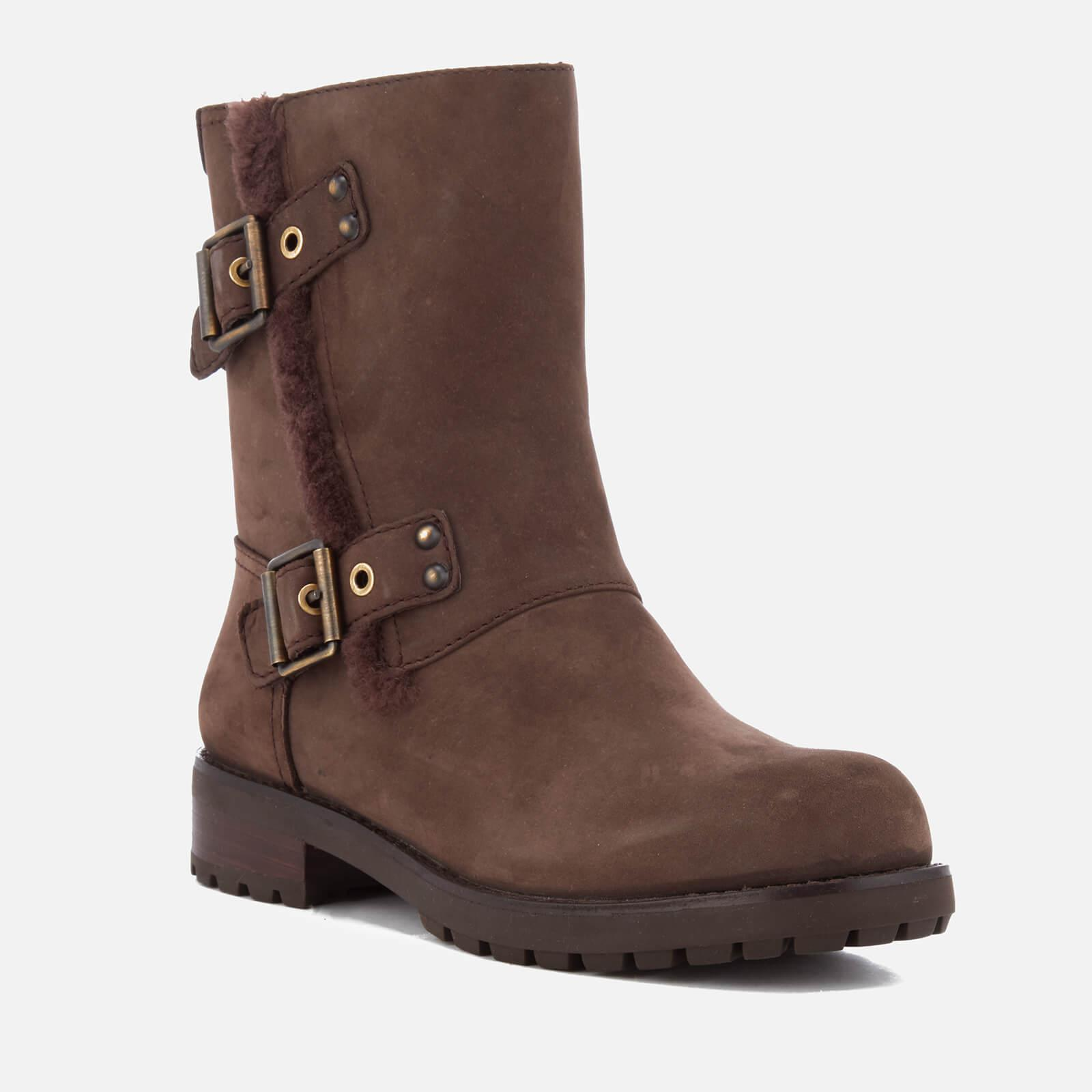 d5603492828 UGG Women's Niels Leather Biker Boots in Brown - Lyst