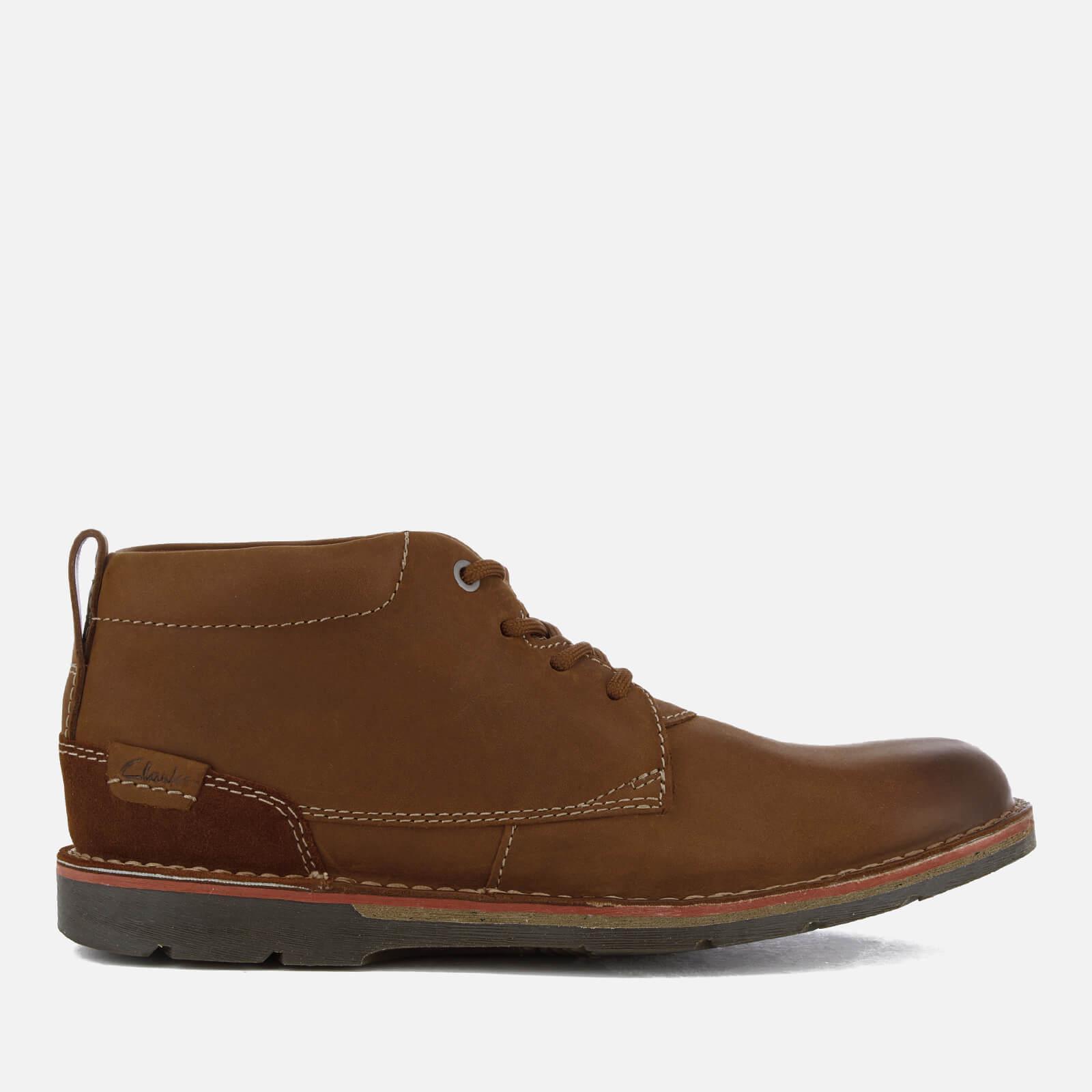 Lyst Clarks Men S Edgewick Mid Nubuck Chukka Boots In
