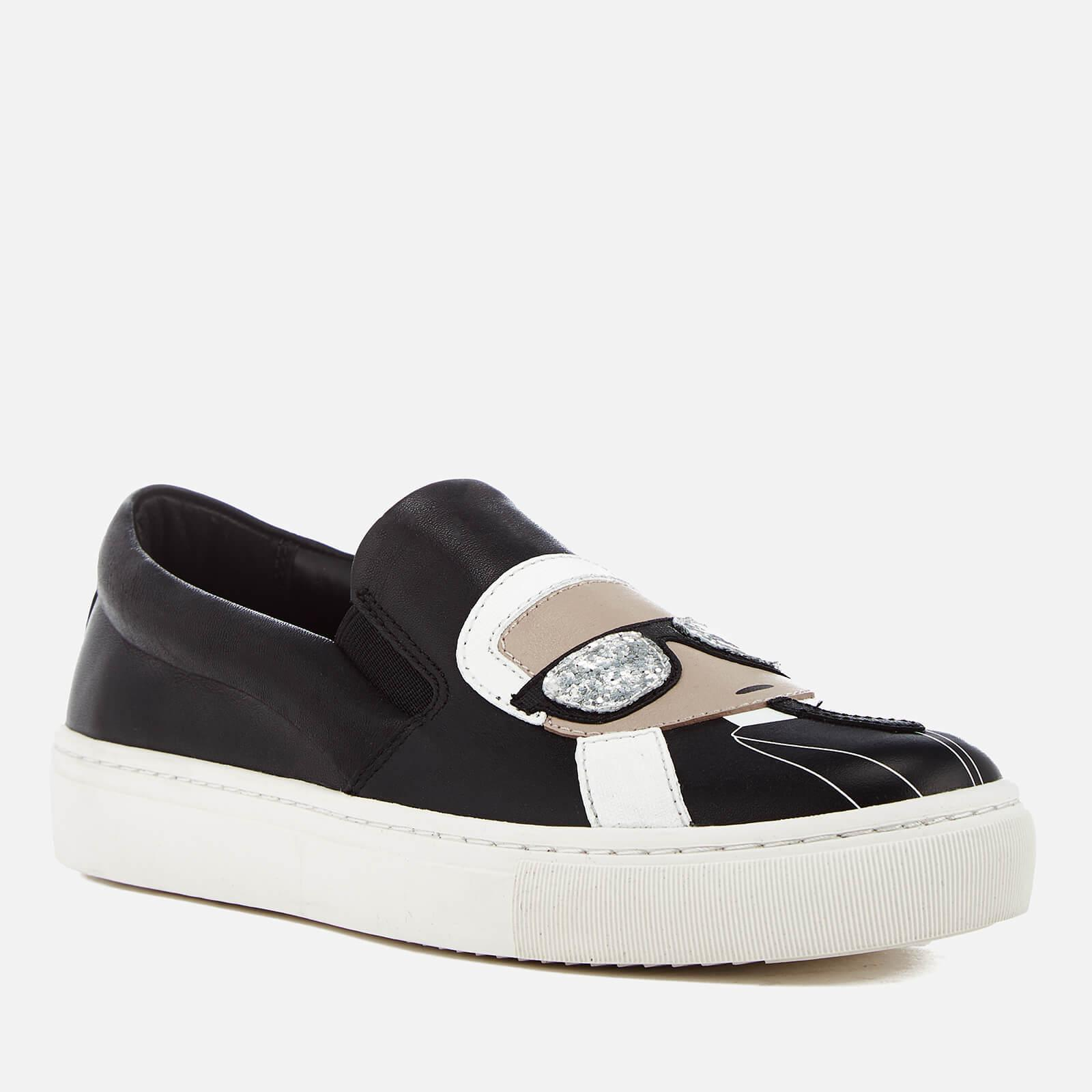 b319937bf8e Karl Lagerfeld - Black Women s Kupsole Leather Karl Ikonic Slip-on Trainers  - Lyst. View fullscreen
