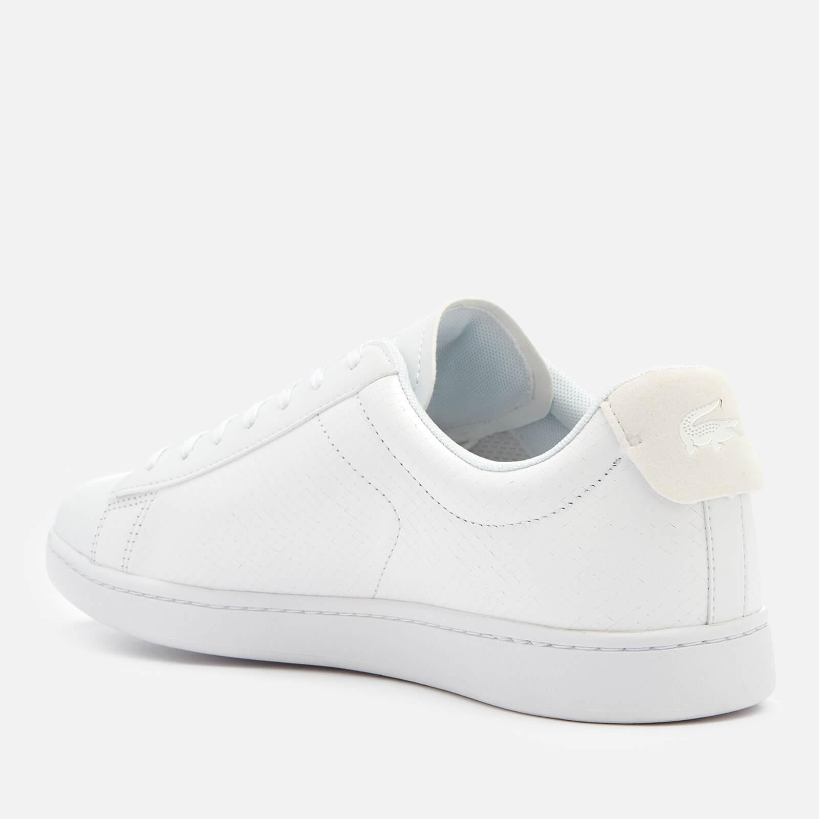 e59ad3c9747837 Lacoste Carnaby Evo 318 7 Croc Leather Trainers in White for Men - Lyst