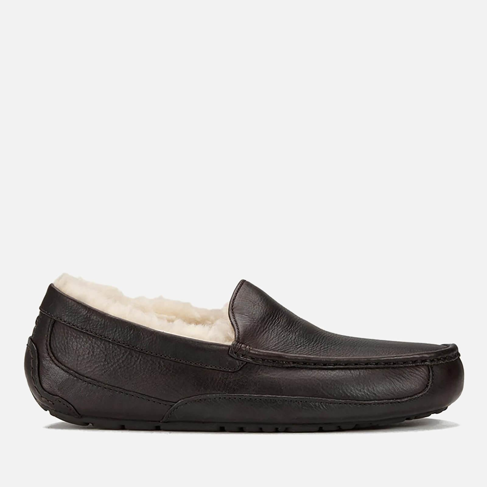4bad175341a6 Lyst - UGG Ascot Grain Leather Slippers in Brown for Men - Save 4%