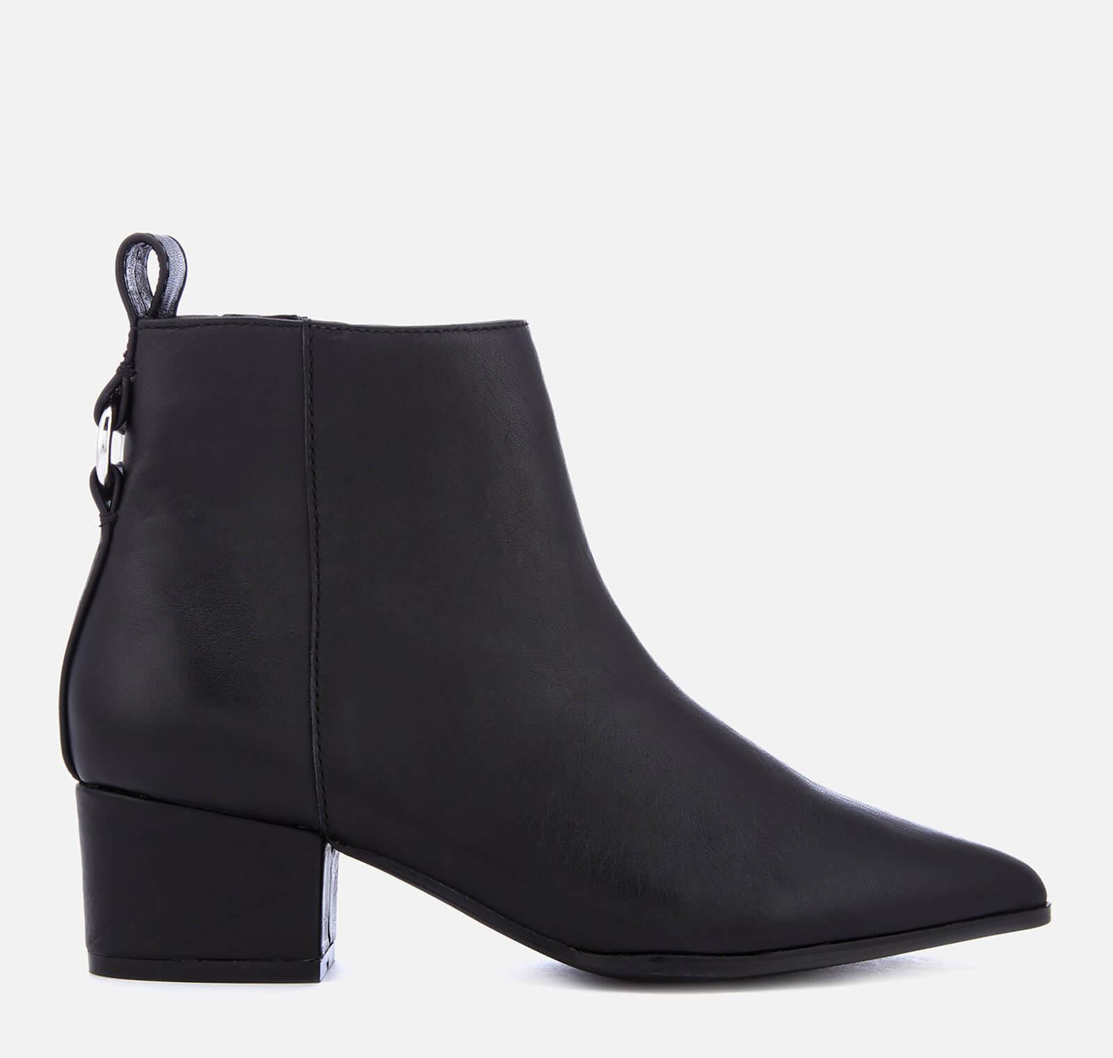 79998a61ad6 Lyst - Steve Madden Clover Leather Heeled Ankle Boots in Black ...