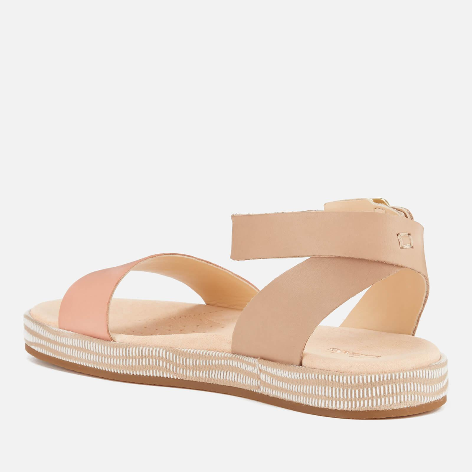 497d1a7ee04 Clarks Botanic Ivy Double Strap Flat Sandals in Pink - Lyst