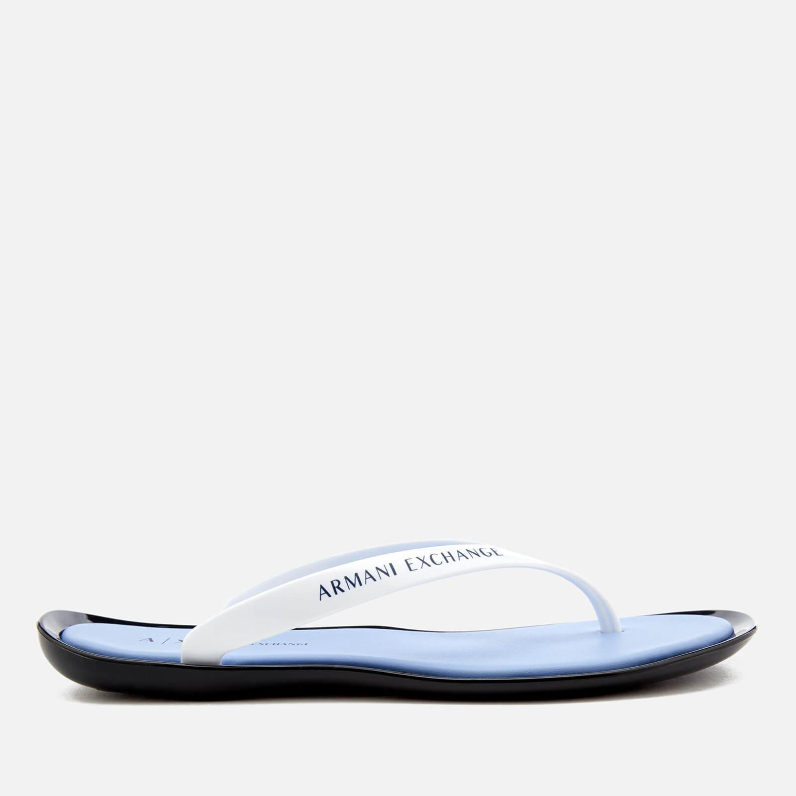 314d883c68f0 Armani Exchange - White Pvc Flip Flops - Lyst. View fullscreen