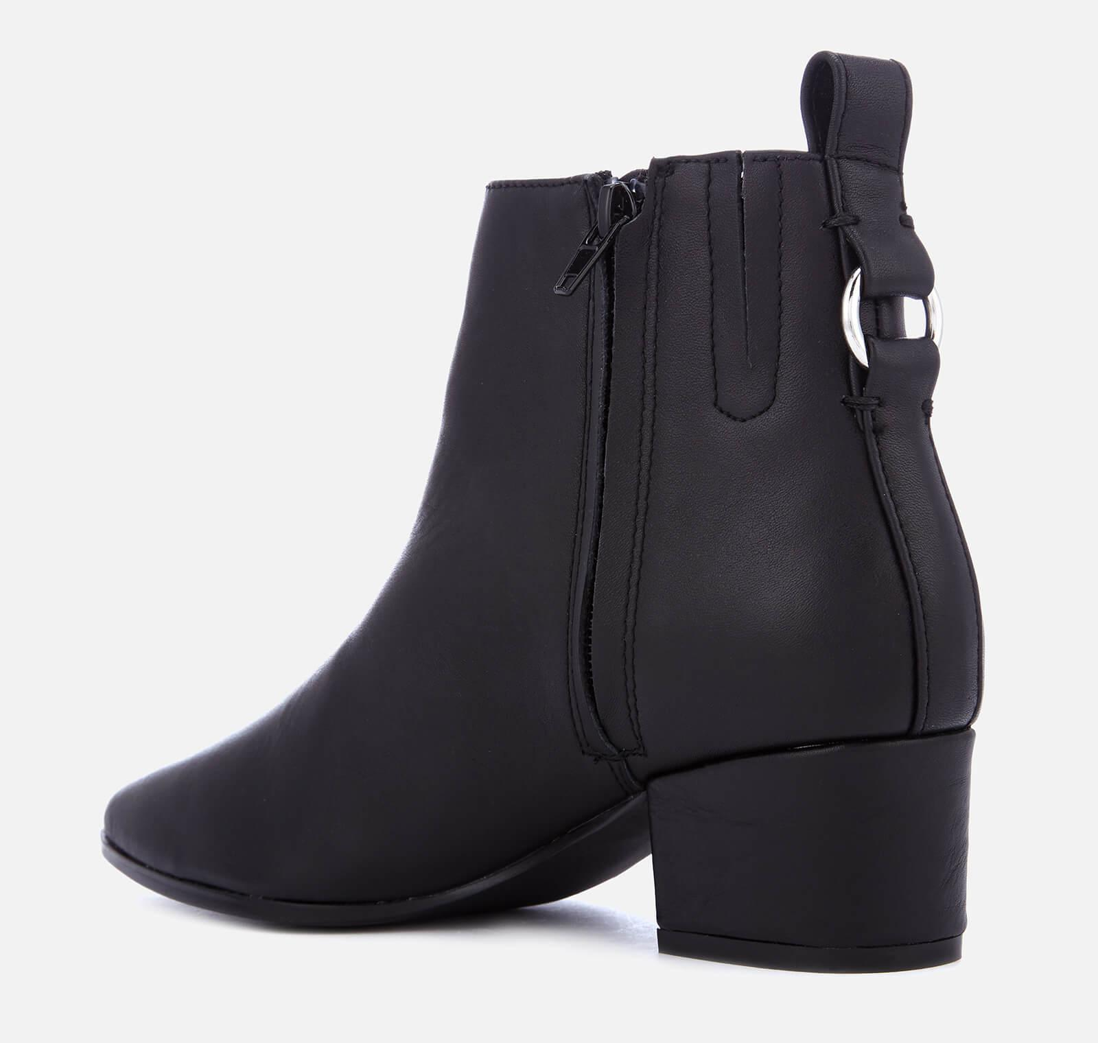 c90ca197f93 Steve Madden - Black Clover Leather Heeled Ankle Boots - Lyst. View  fullscreen