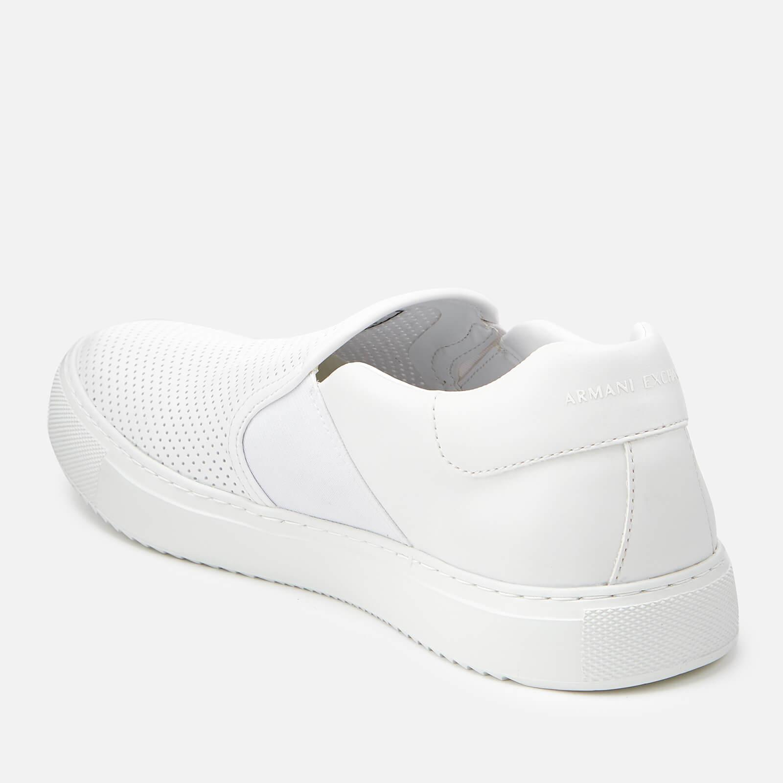 579d29aaf5b Armani Exchange Slip-on Trainers in White for Men - Lyst
