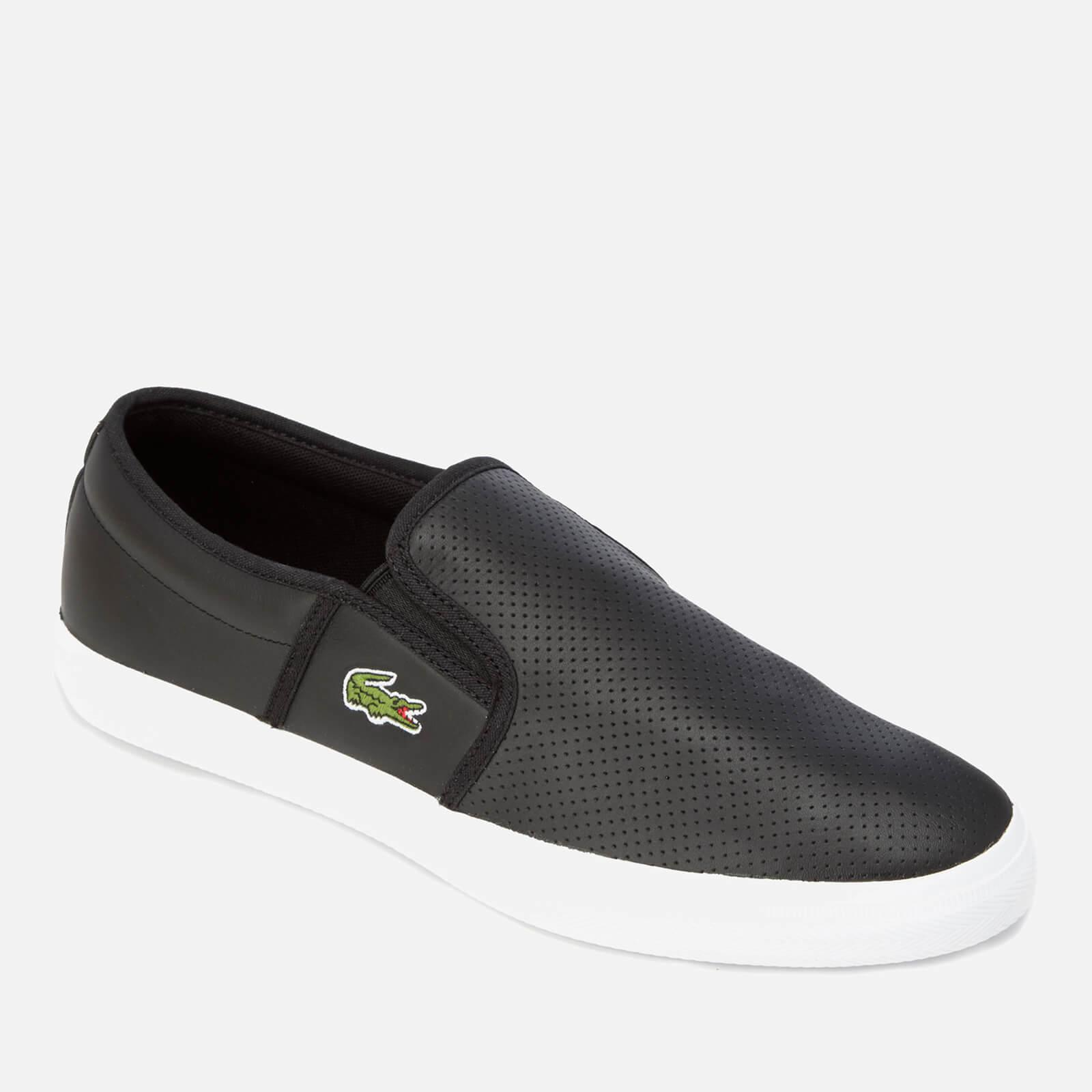 94e61a63f0676f Lacoste Gazon Bl 1 Leather Slip-on Trainers in Black for Men - Lyst