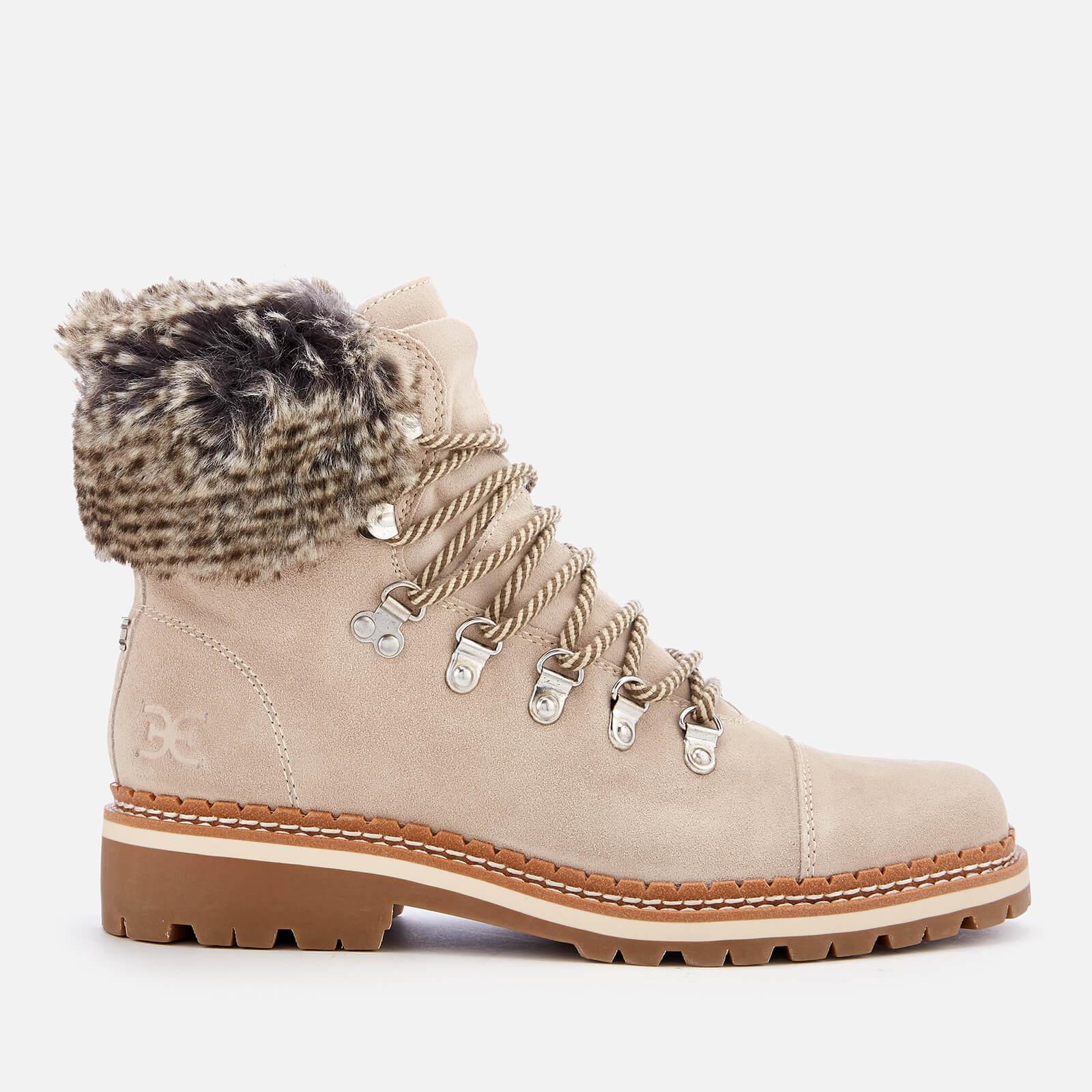 46497e5cd Sam Edelman - Gray Bowen Velutto Suede Hiker Style Boots - Lyst. View  fullscreen