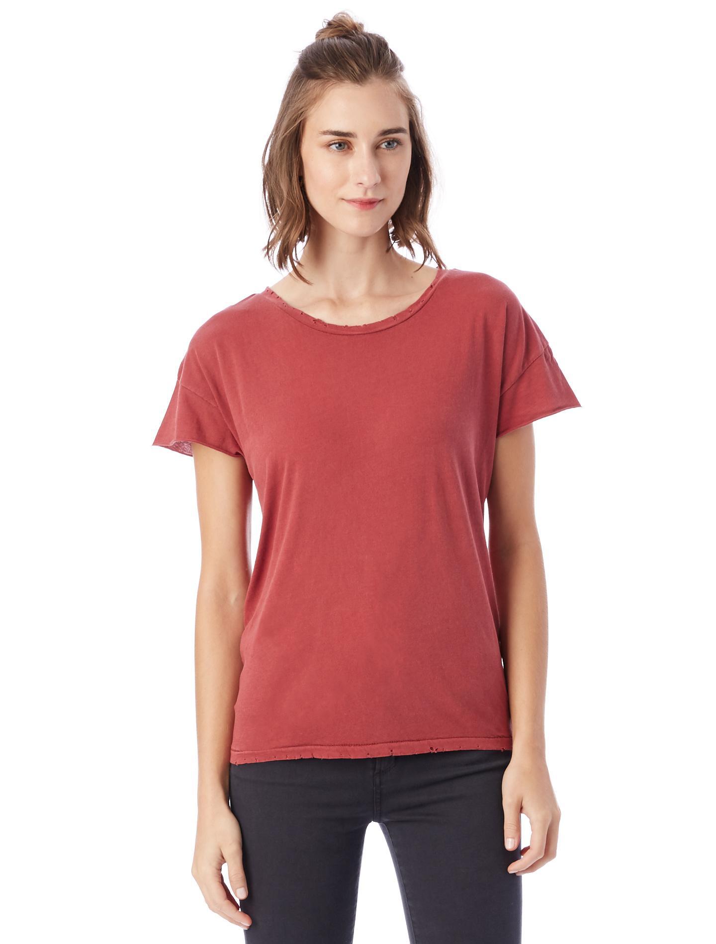 alternative apparel rocker garment dyed distressed t shirt
