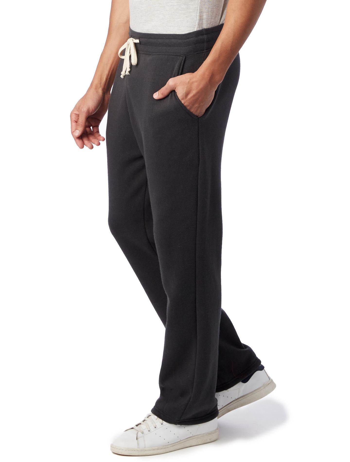 9a3a7f73b Lyst - Alternative Apparel Hustle Eco-fleece Open Bottom Sweatpants in Black  for Men