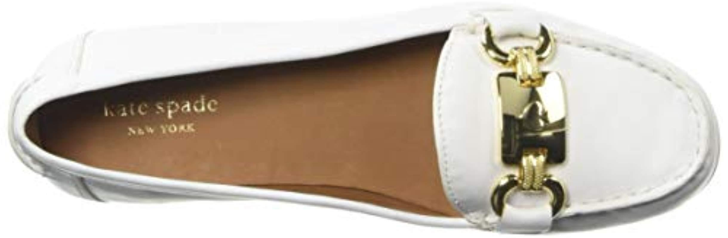 138242c41dc Kate Spade - White Carson Driving Style Loafer - Lyst. View fullscreen