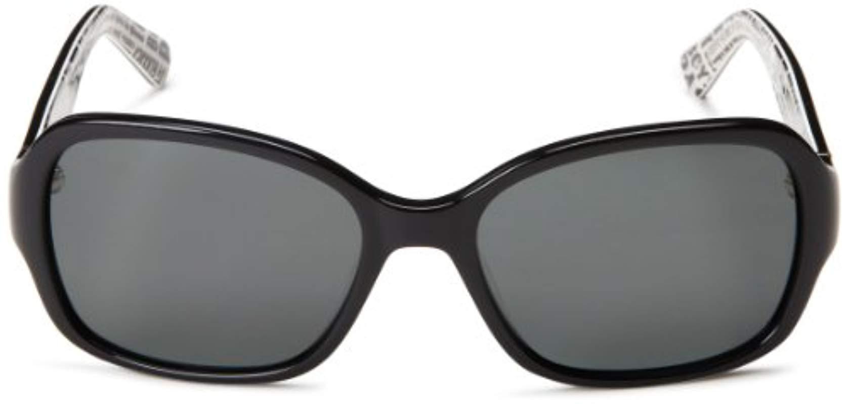 211ed0229b1bc Kate Spade - Black Akira Polarized Rectangular Sunglasses - Lyst. View  fullscreen