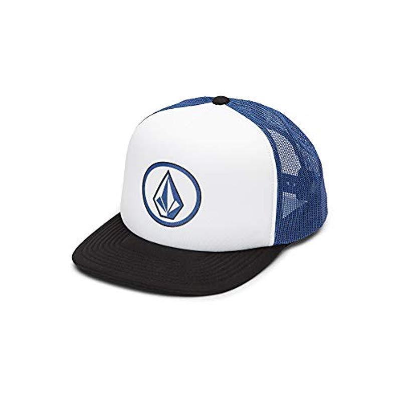 ada20e599a7dd Lyst - Volcom Full Frontal Cheese 5 Panel Trucker Hat in Blue for Men