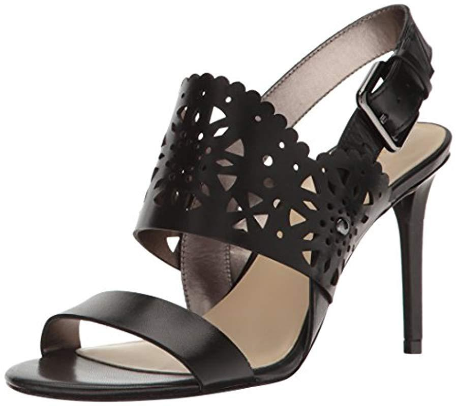 87980ae3293d Lyst - Nine West Radhuni Leather Dress Sandal in Black - Save 21%