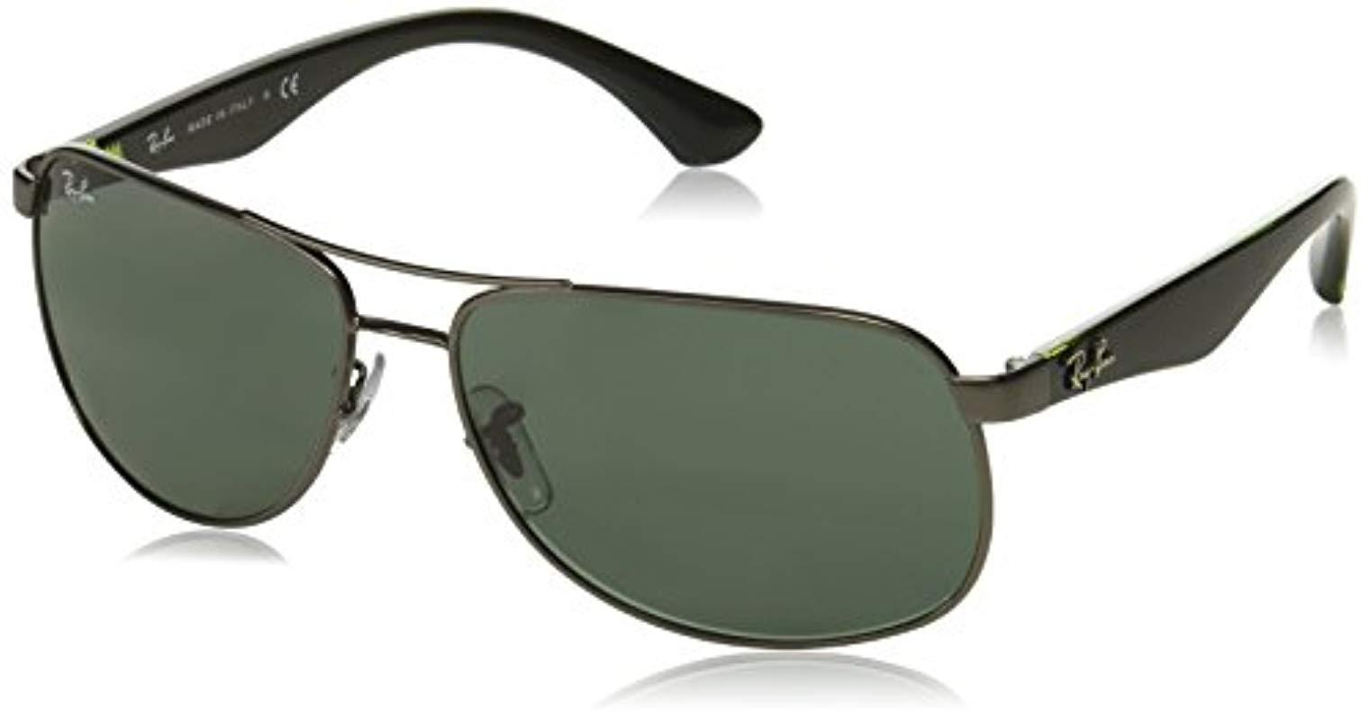 4103f275b8 Lyst - Ray-Ban Orb3502 029 8561 Aviator Sunglasses for Men - Save 5%